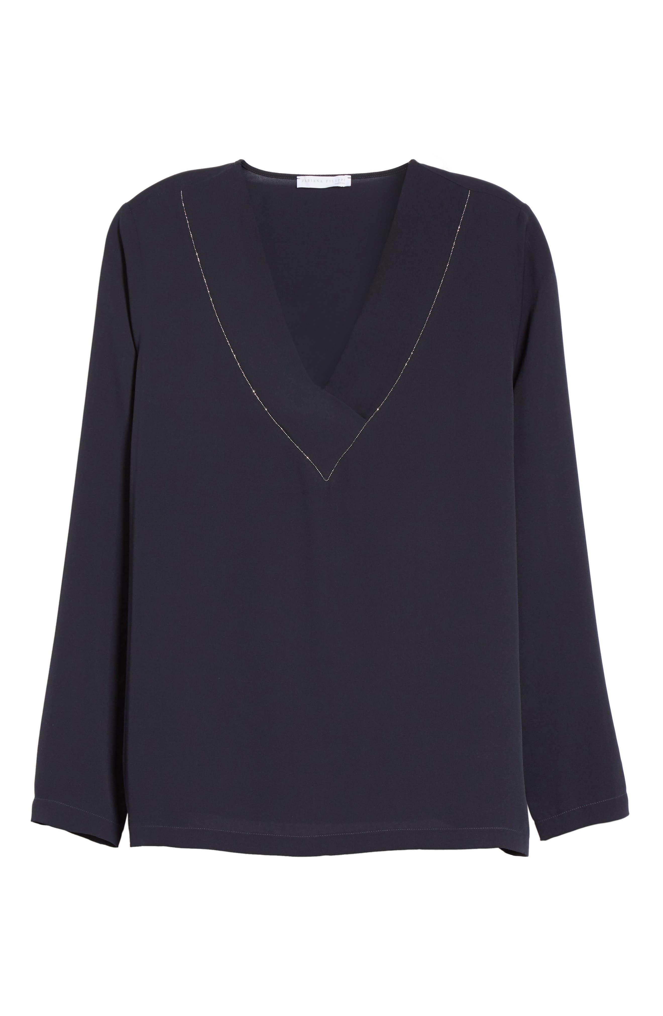 Alternate Image 4  - Fabiana Filippi Embellished Stretch Silk Blouse