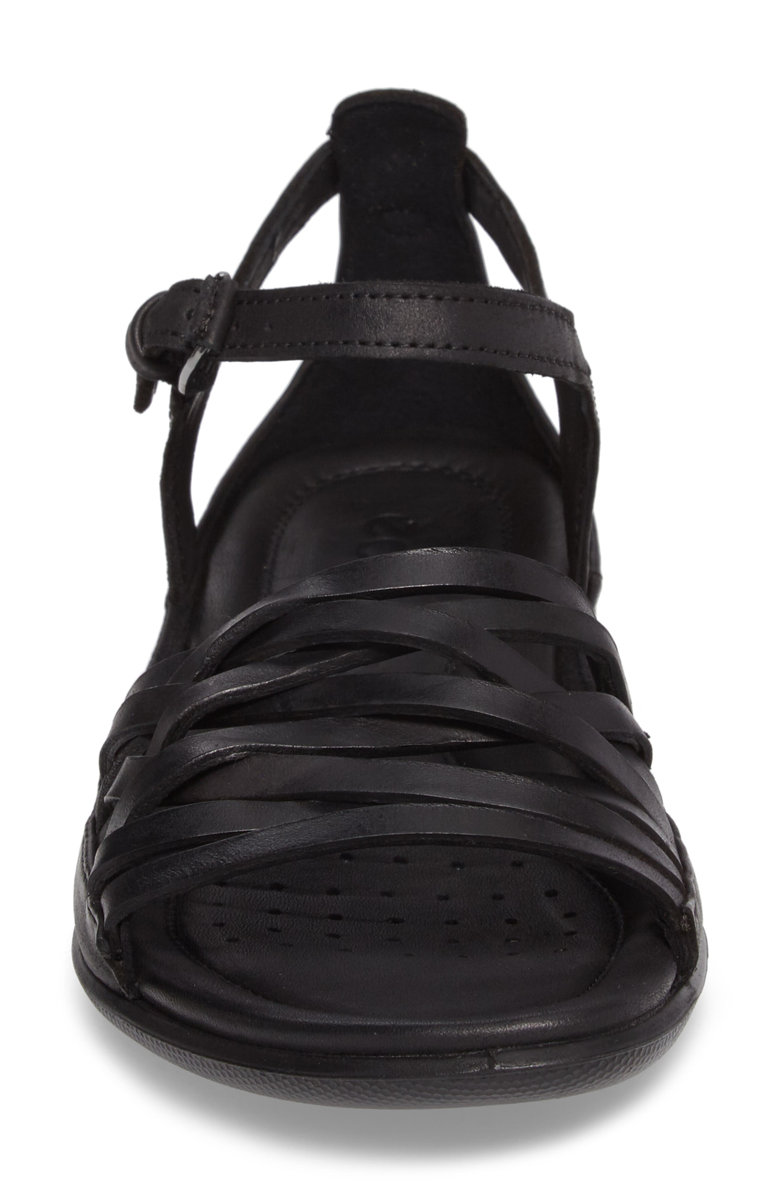 Flash Sandal,                             Alternate thumbnail 4, color,                             Black Leather