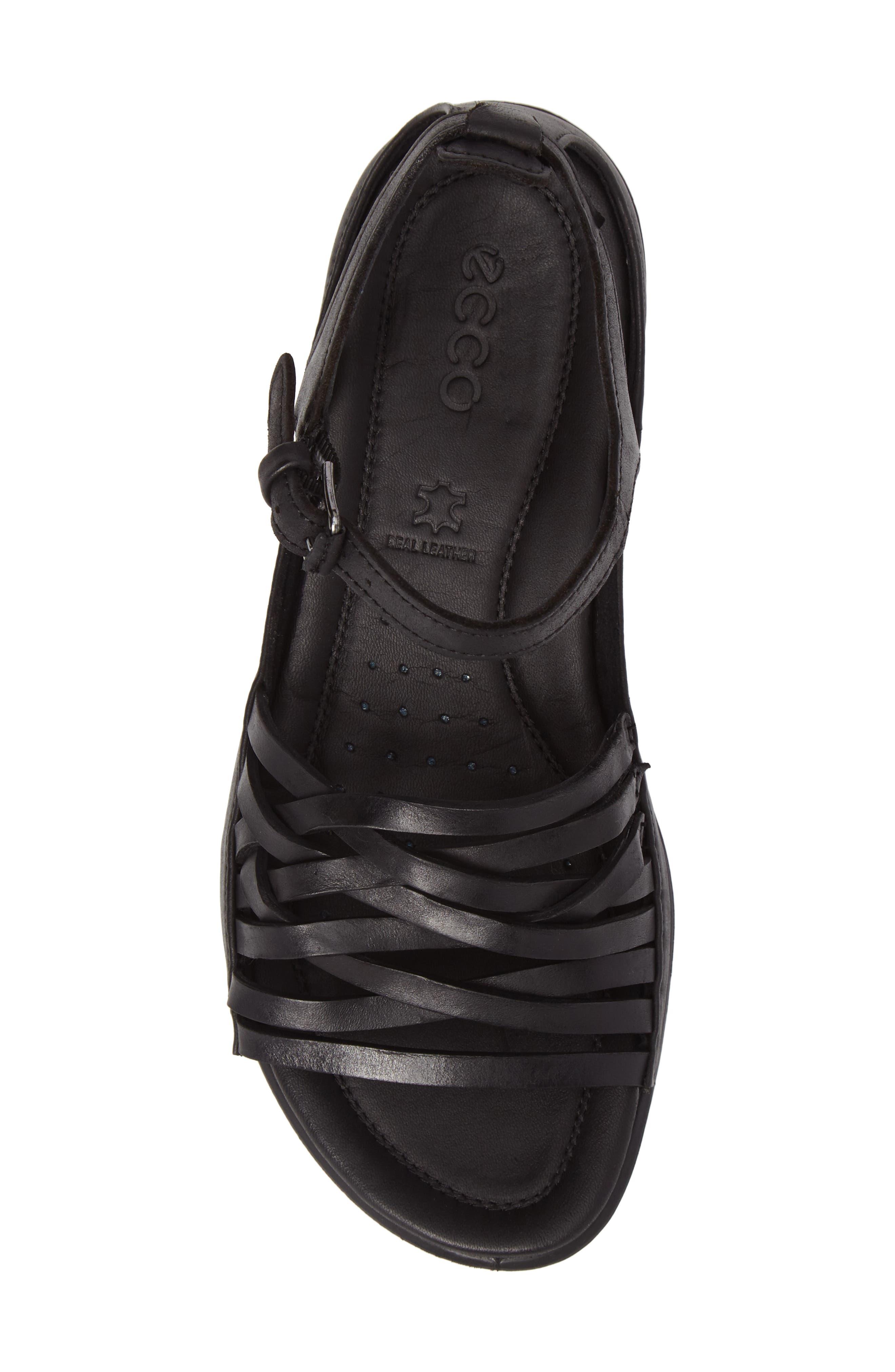 Flash Sandal,                             Alternate thumbnail 5, color,                             Black Leather