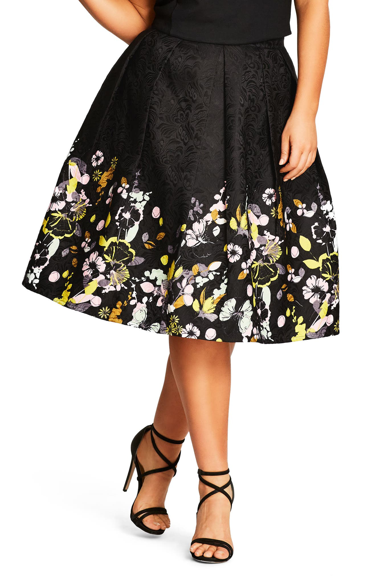 City Chic Garden Party Skirt (Plus Size)