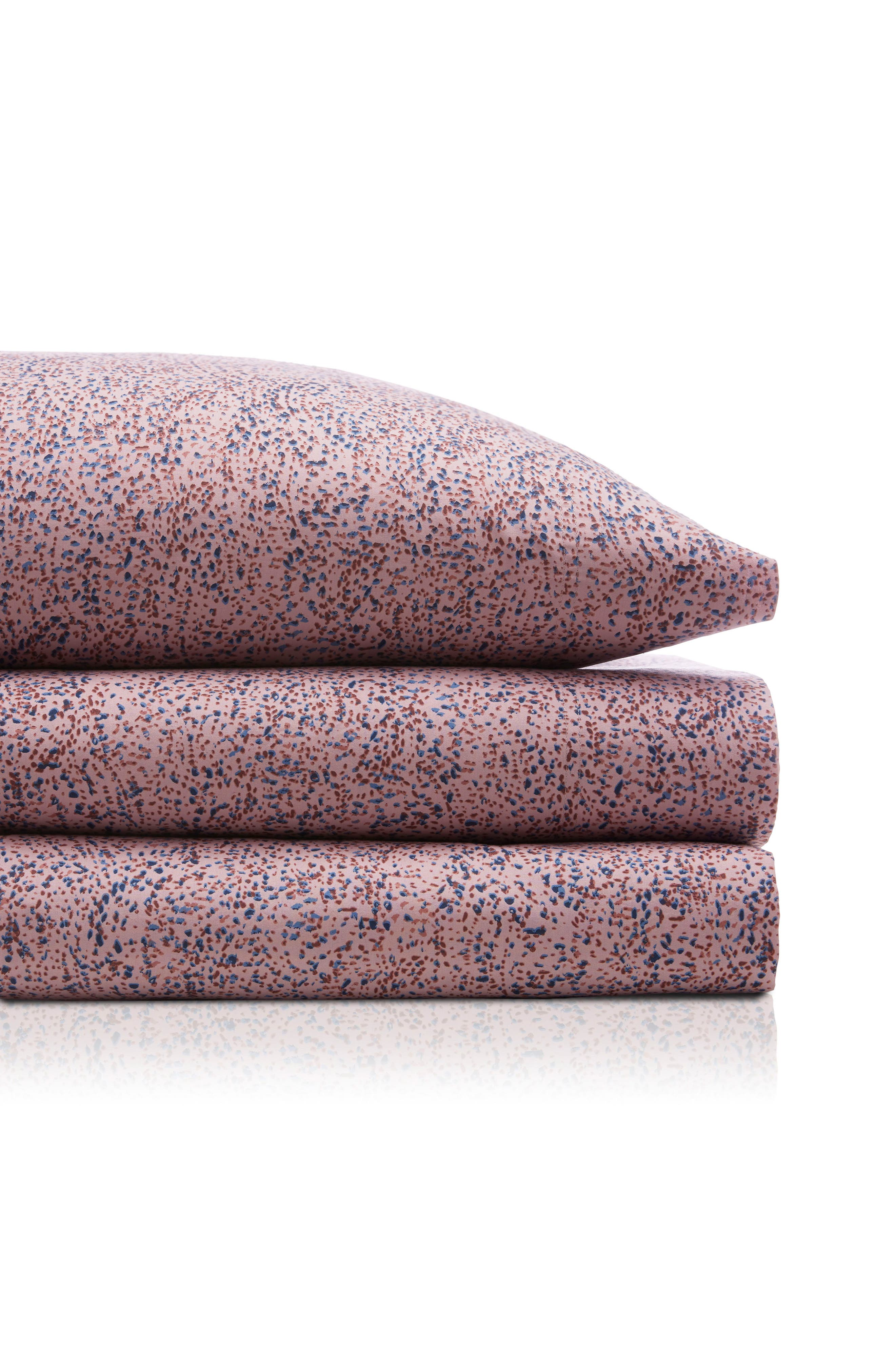 Small Dots 200 Thread Count Sheet Set,                         Main,                         color, Purple