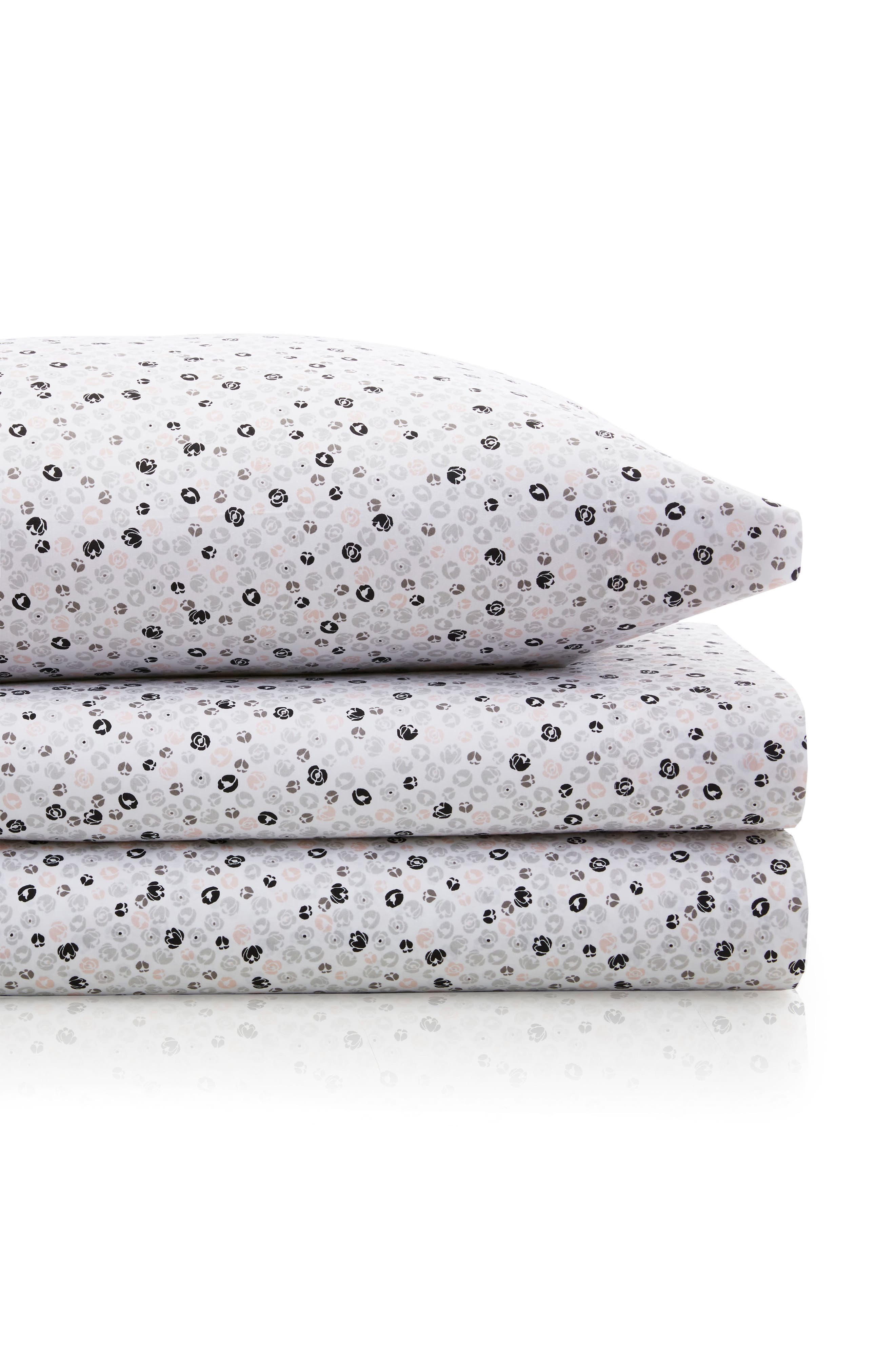 Main Image - BCBGeneration Ditsy Floral 200 Thread Count Sheet Set