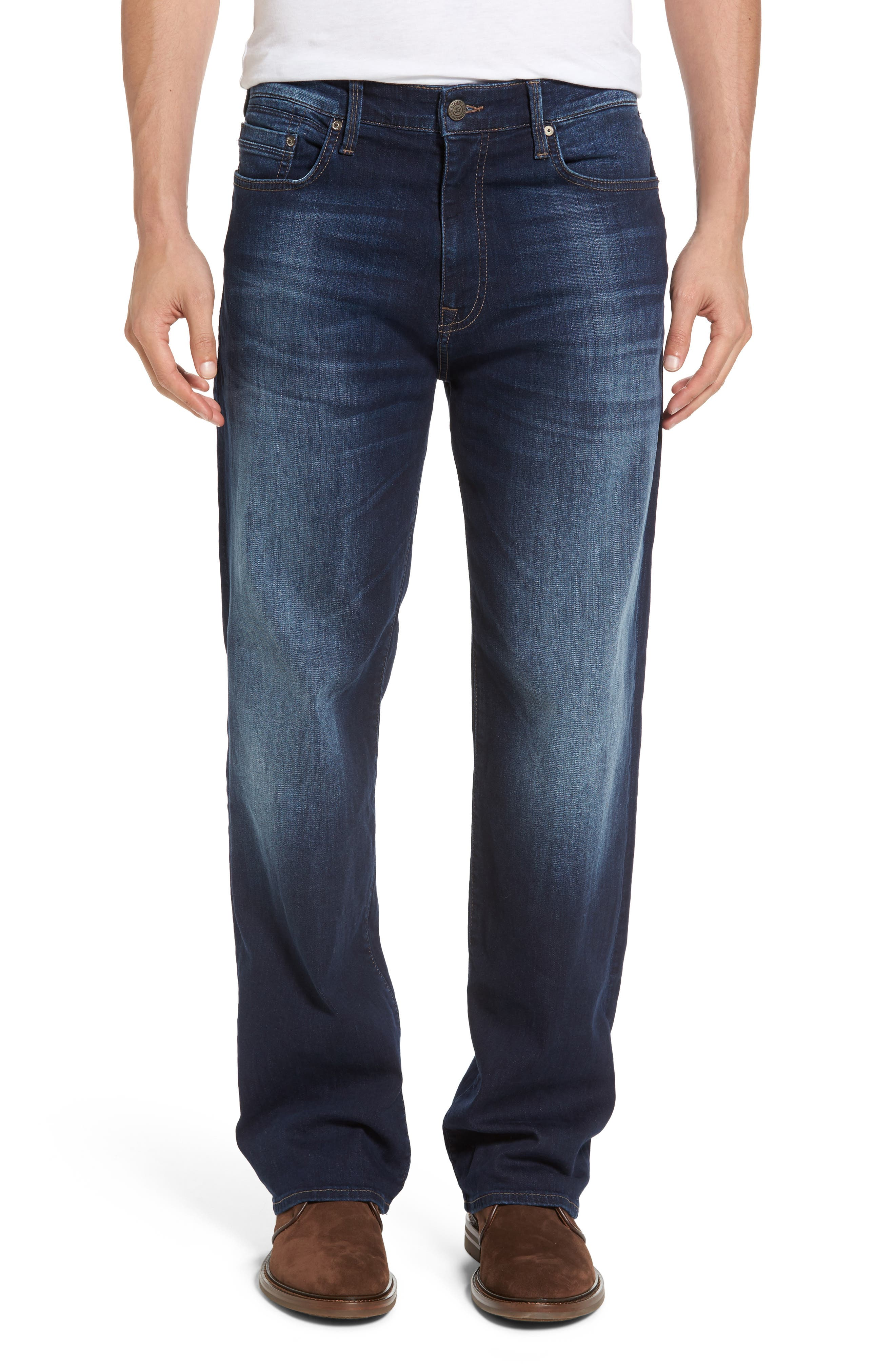 'Max' Relaxed Fit Jeans,                         Main,                         color, Dark Williamsburg