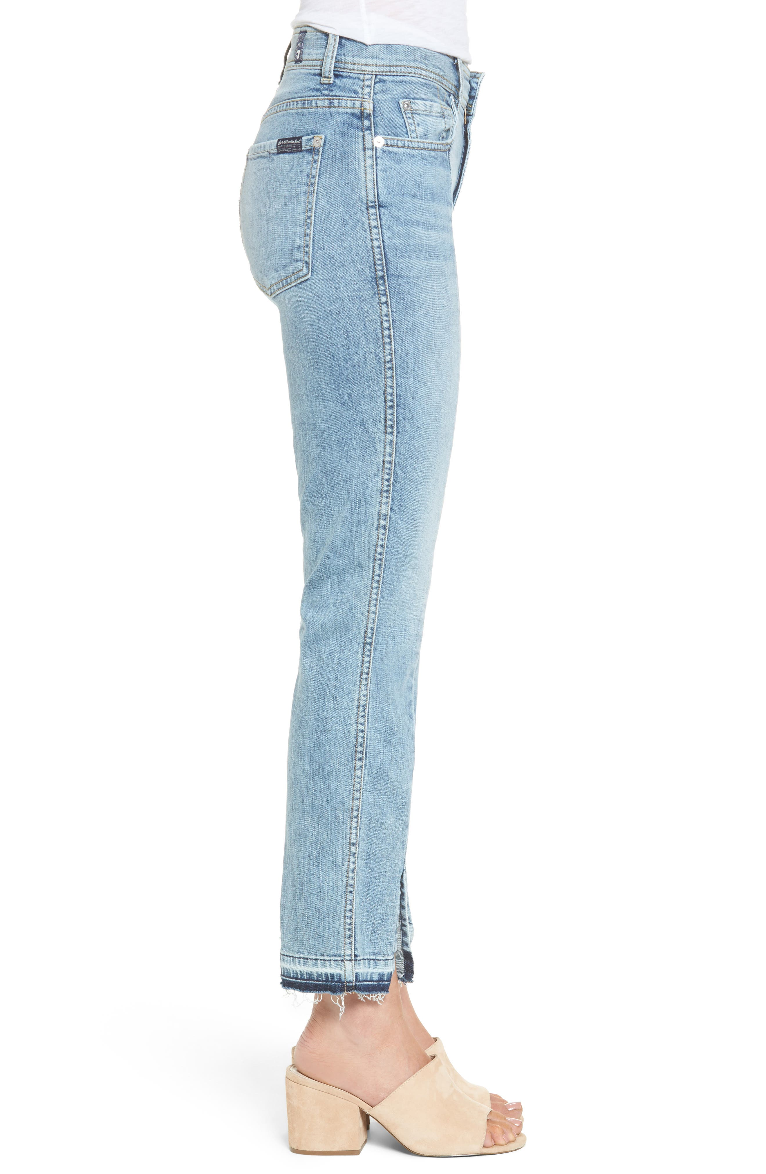 Alternate Image 2  - 7 For All Mankind® Release Hem Ankle Skinny Jeans (Rockaway Beach)