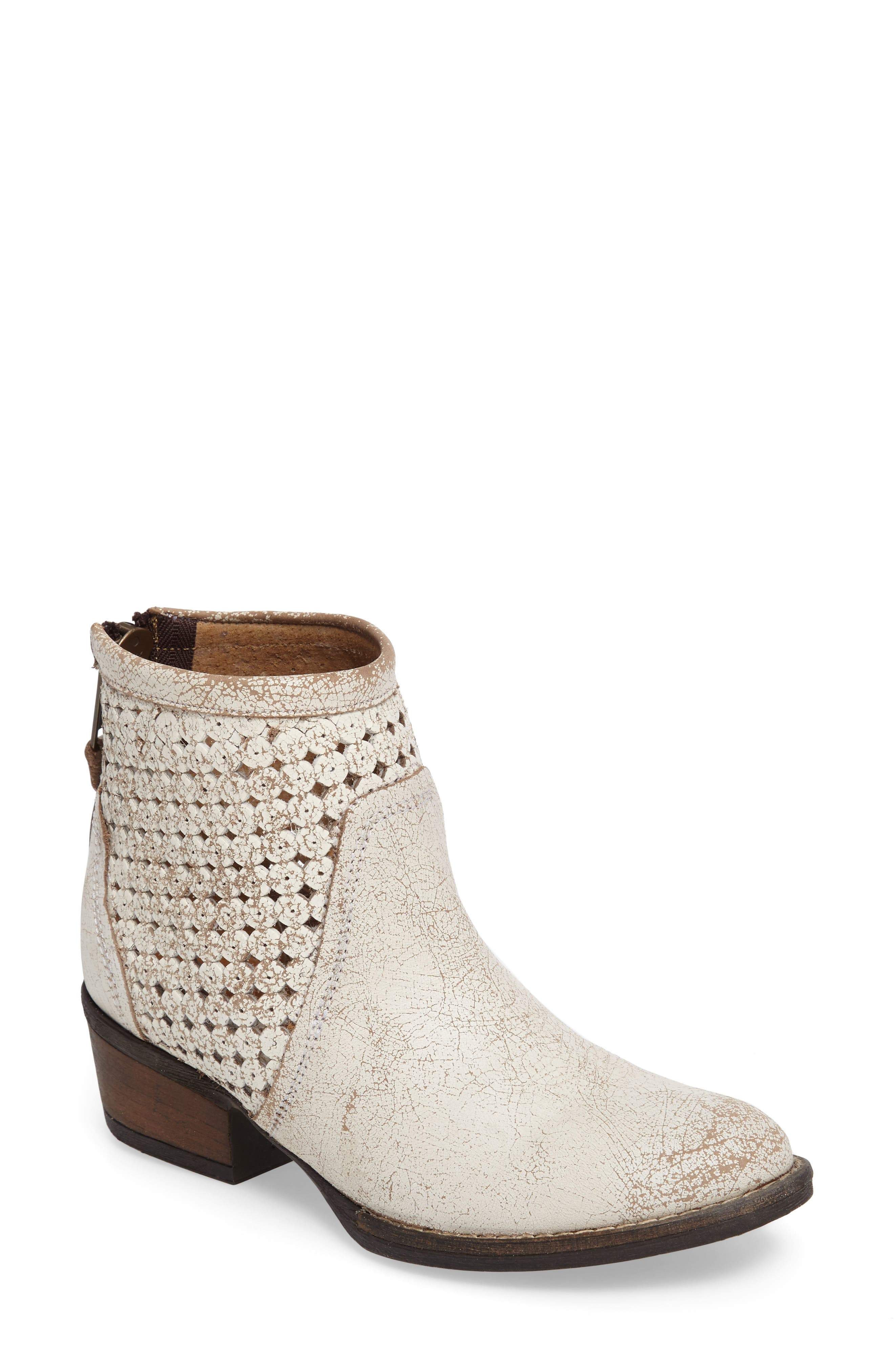 Namaste Bootie,                         Main,                         color, Off White Leather