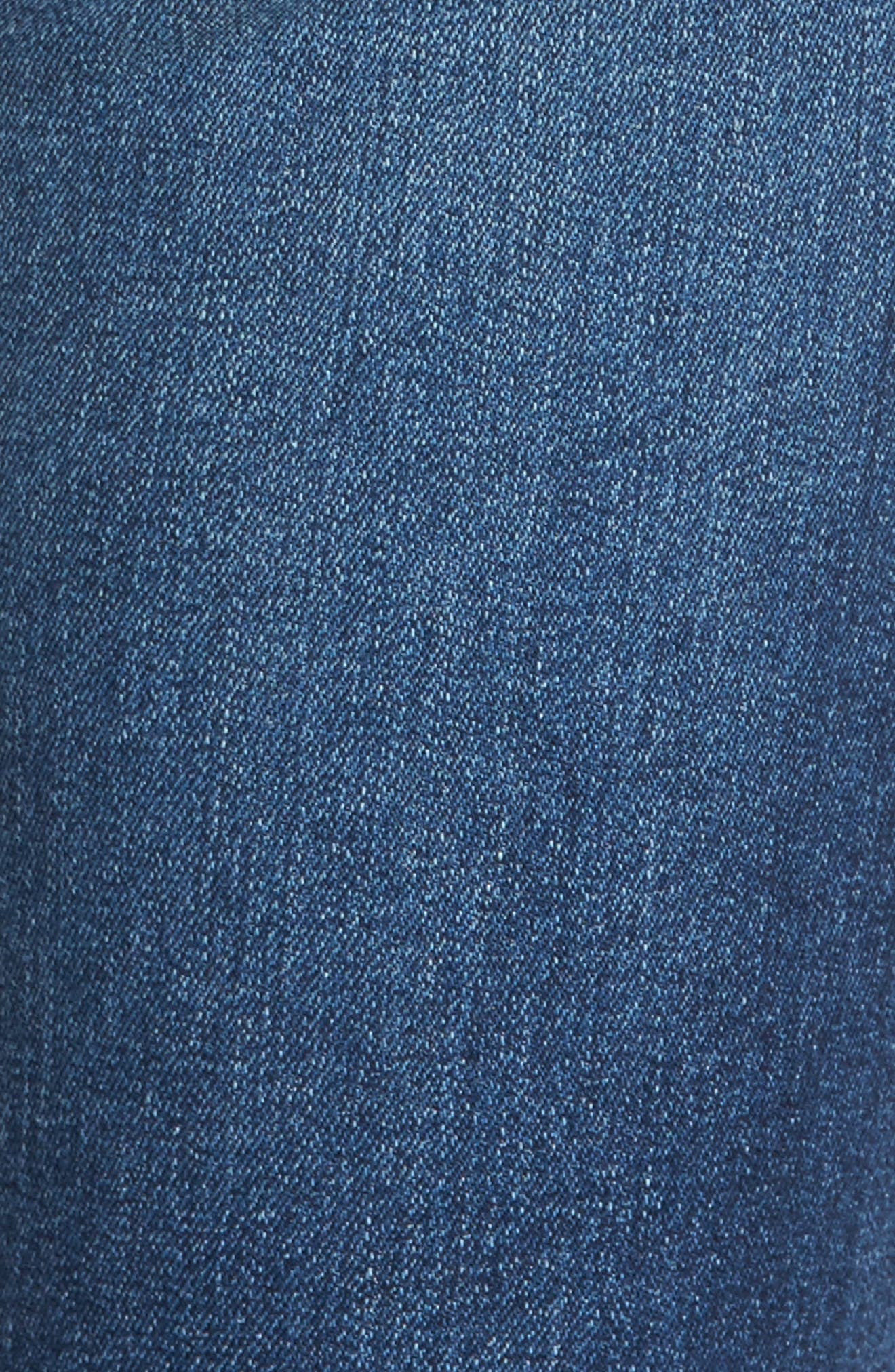 Alternate Image 6  - AG The Legging Raw Hem Ankle Skinny Jeans (12 Years Blue Dusk)