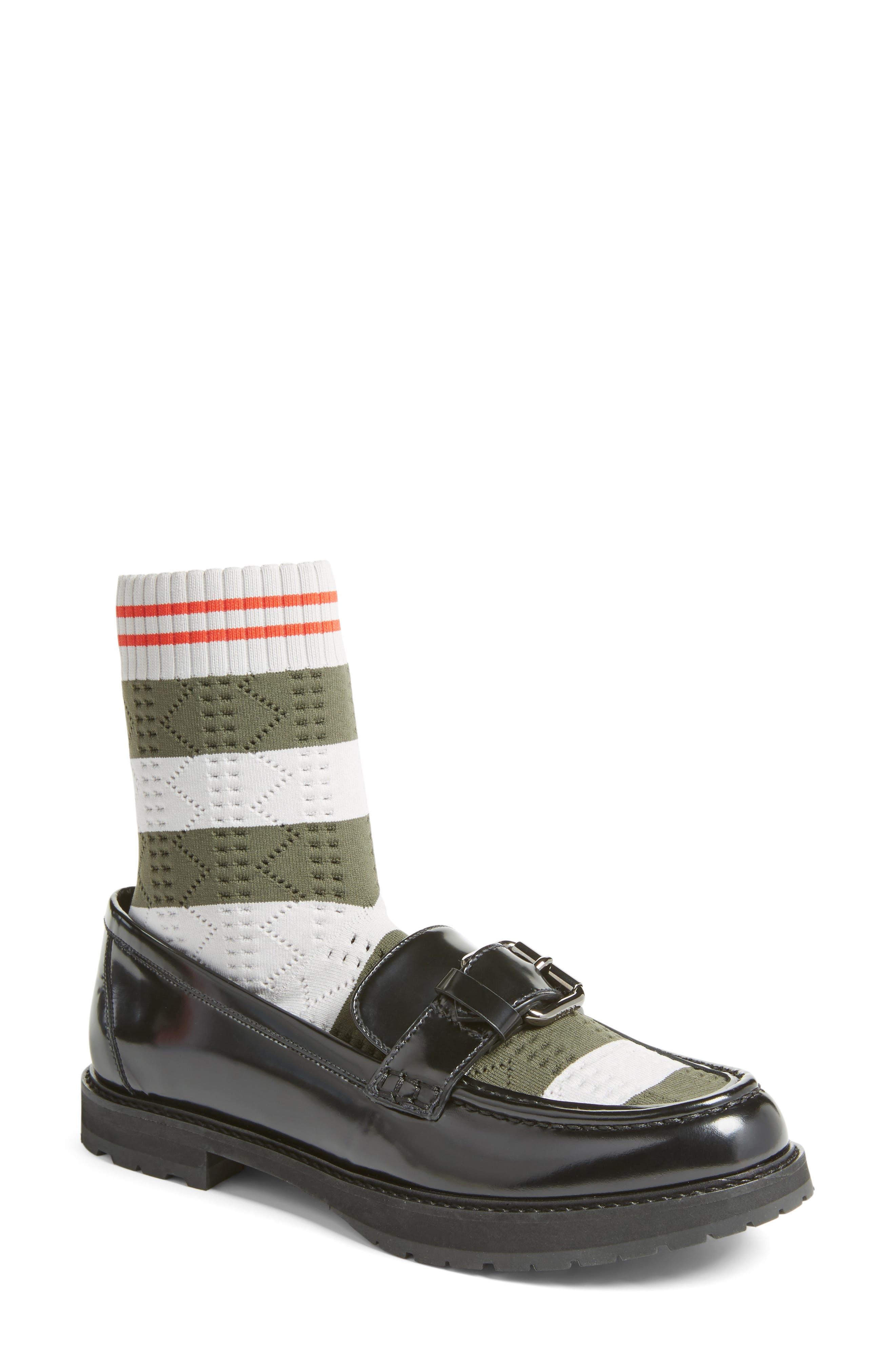 Alternate Image 1 Selected - Fendi Marie Antoinette Sock Loafer (Women)