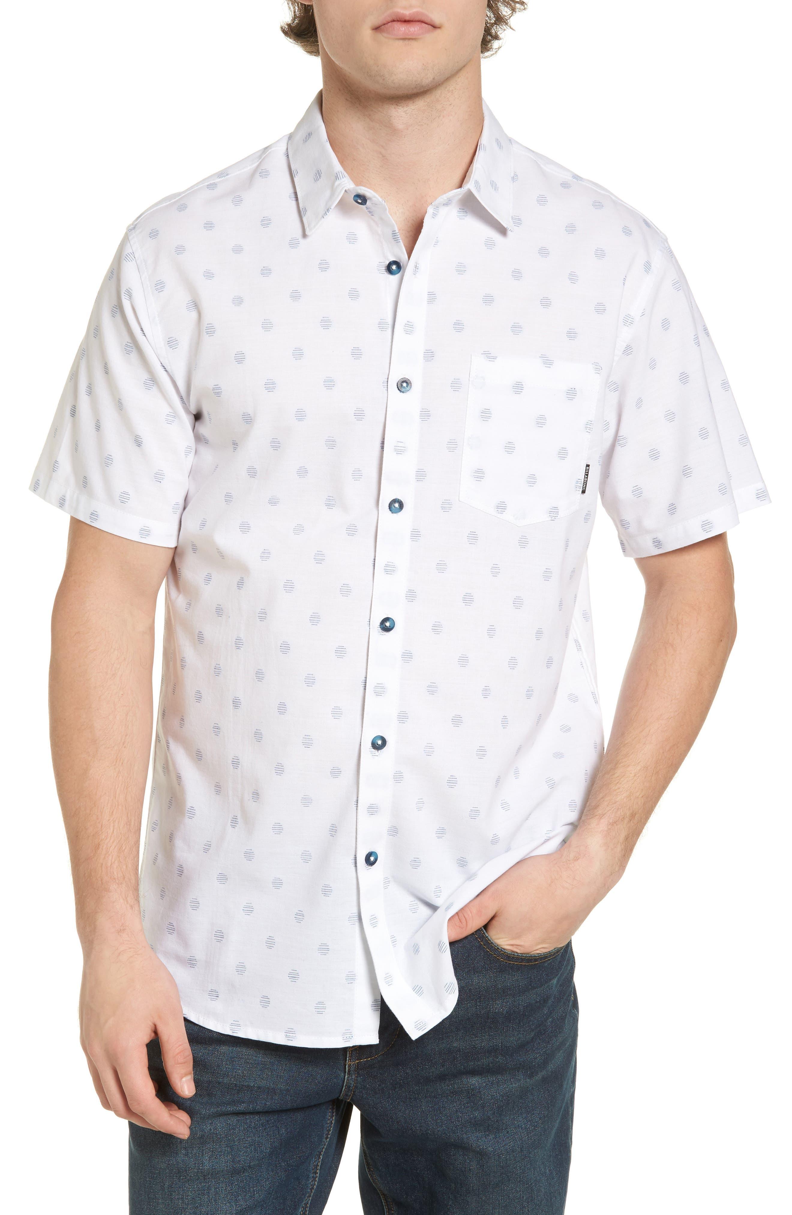 Cruisin Dobby Woven Shirt,                         Main,                         color, White