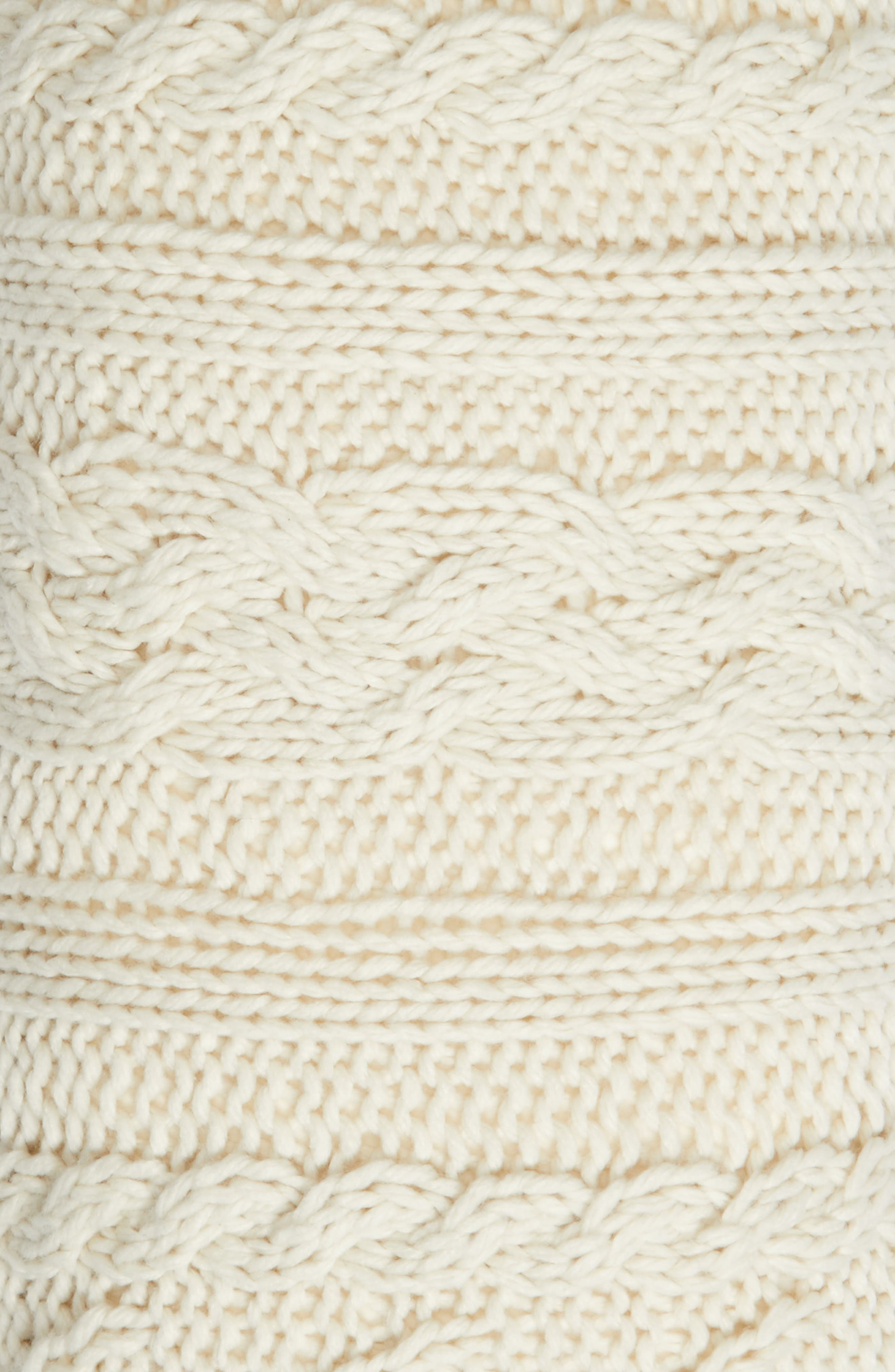 Cable Knit Accent Pillow,                             Alternate thumbnail 2, color,                             Ivory Dove