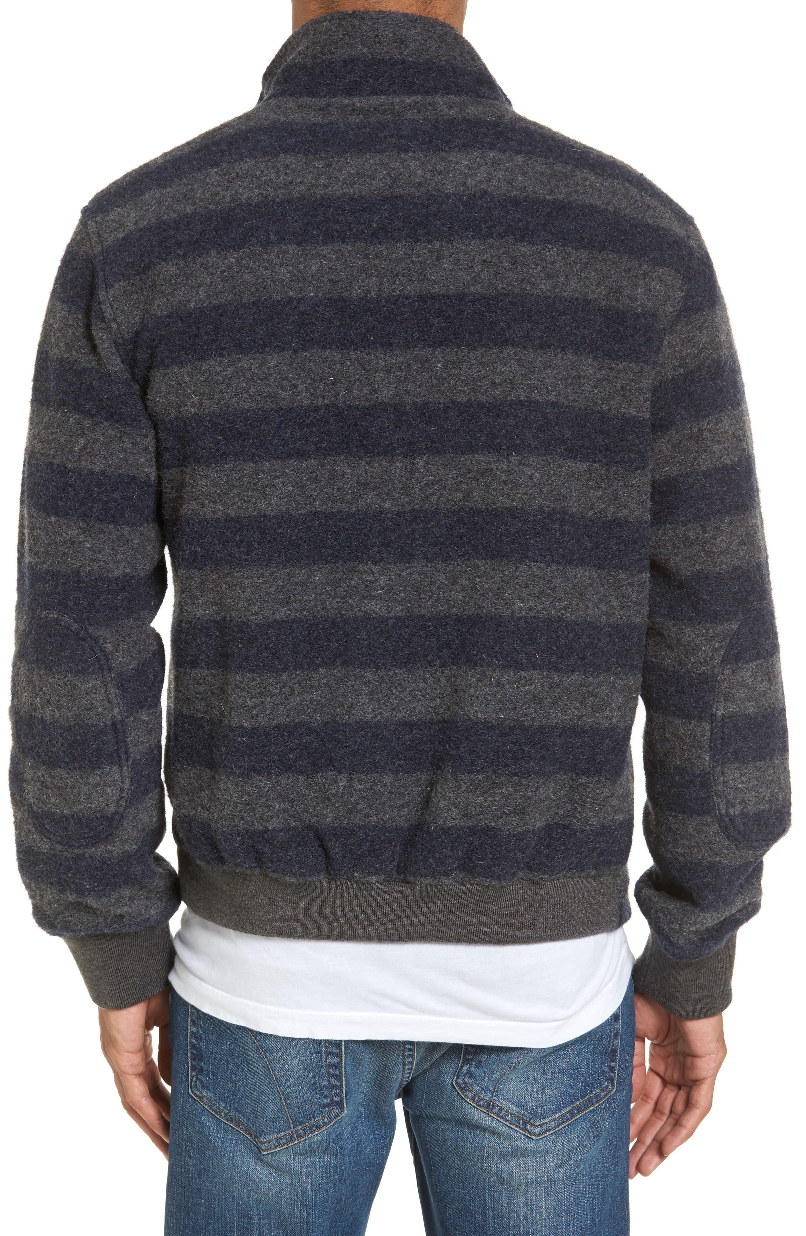 Bowen Stripe Zip Front Jacket,                             Alternate thumbnail 2, color,                             Grey Navy Stripe