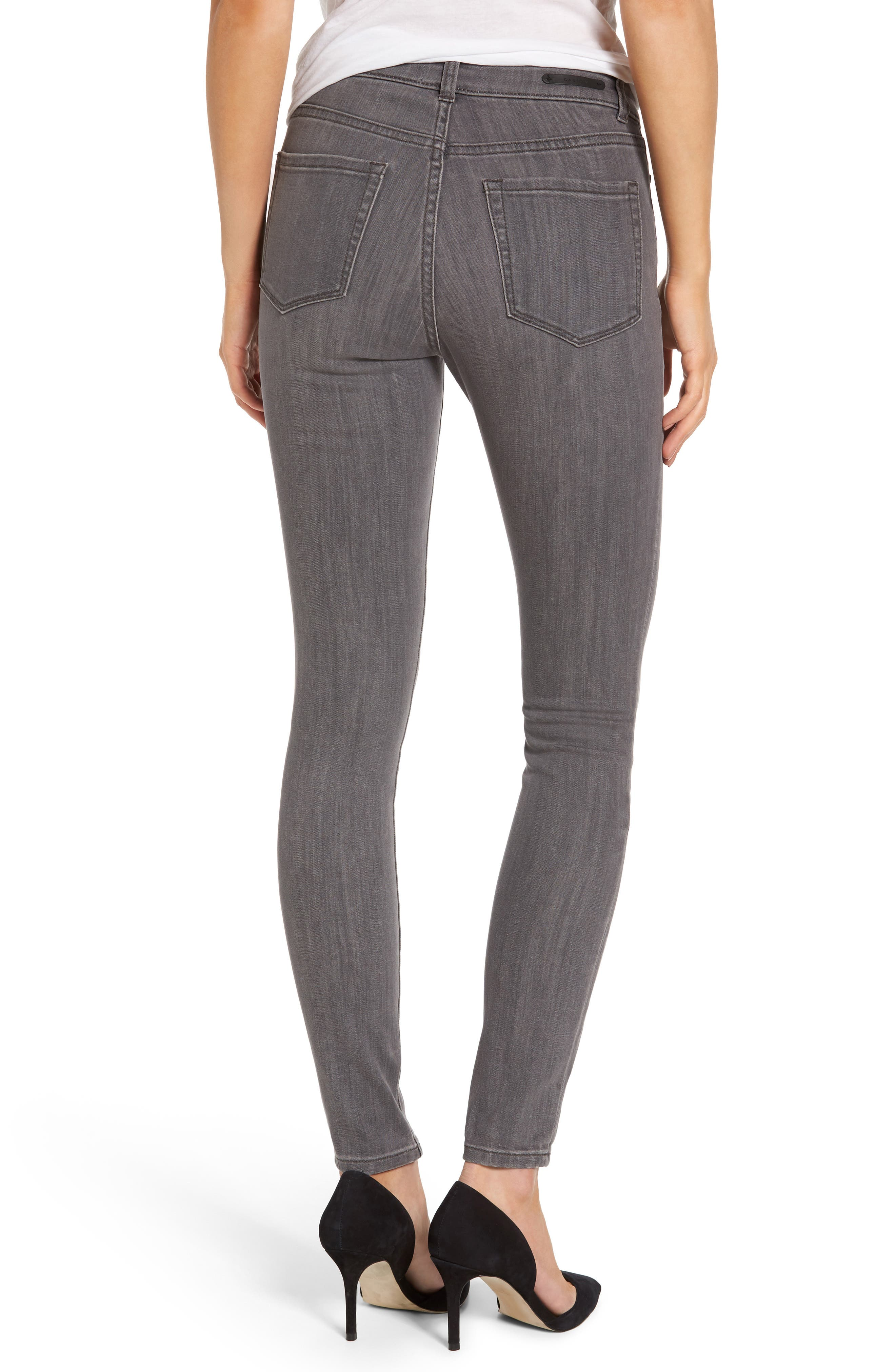 Stretch Skinny Jeans,                             Alternate thumbnail 2, color,                             Grey Adoria Wash