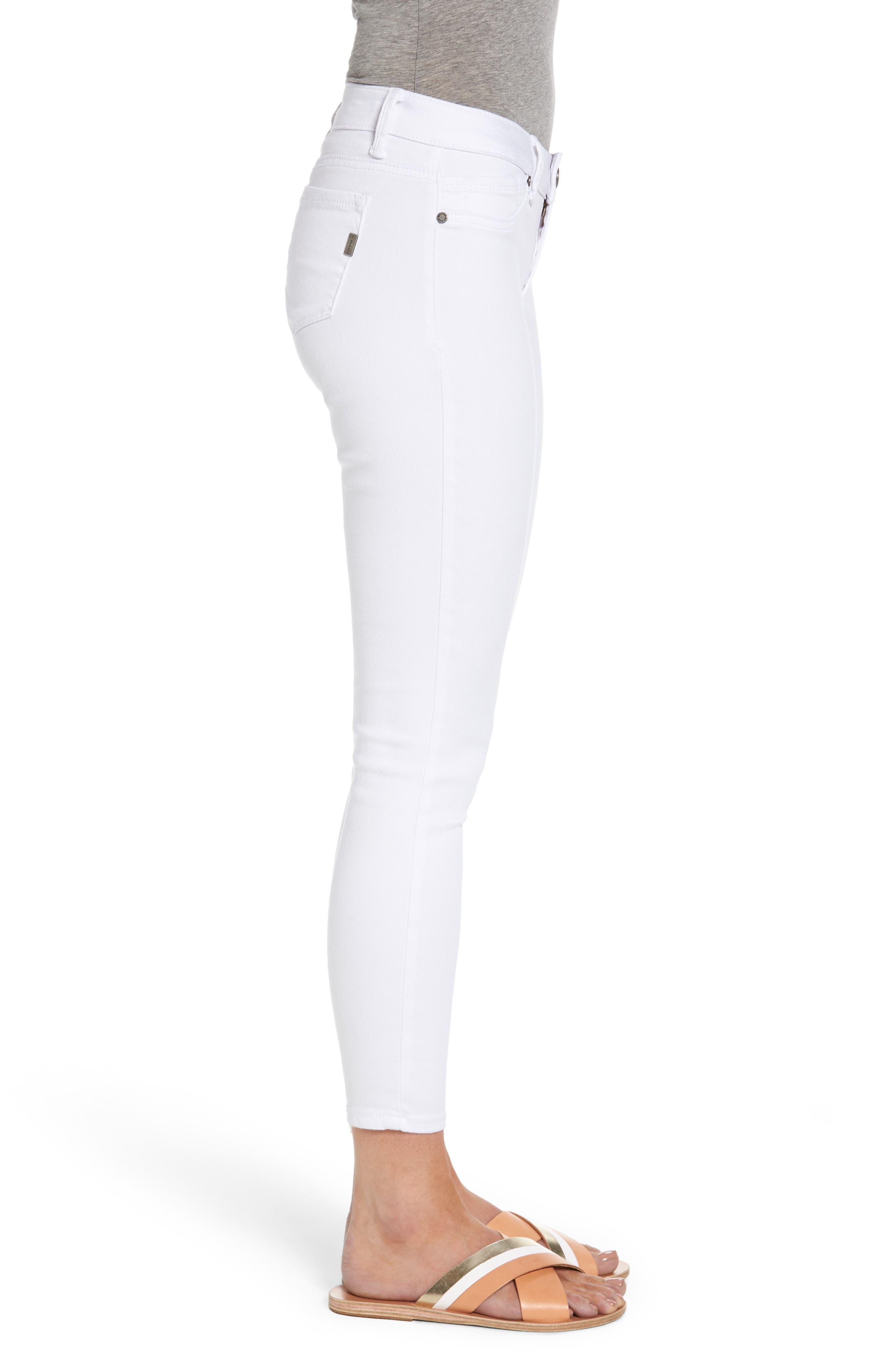 1822 Butter Skinny Jeans,                             Alternate thumbnail 3, color,                             Wht