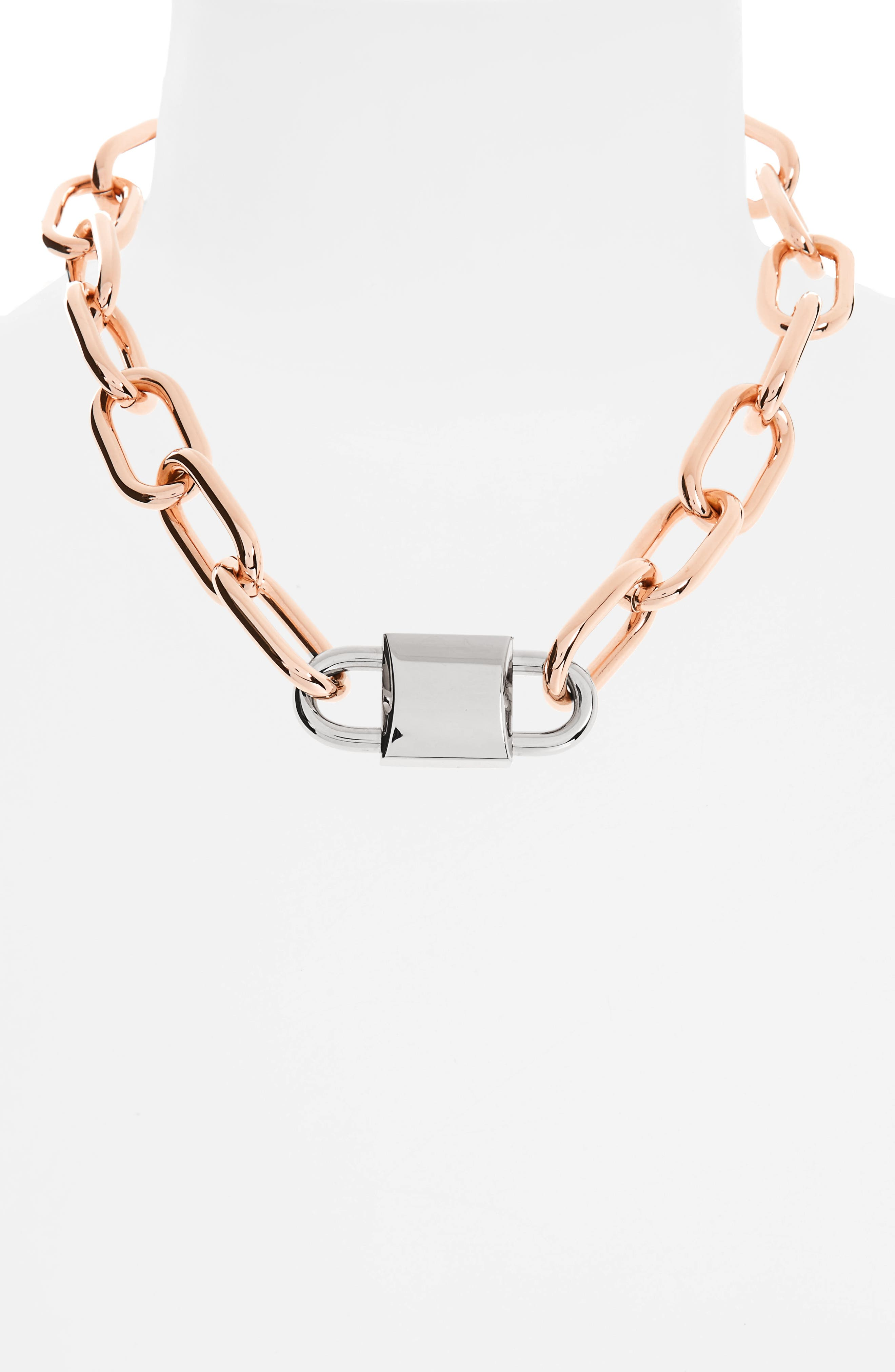 Alternate Image 2  - Alexander Wang Double Lock Necklace
