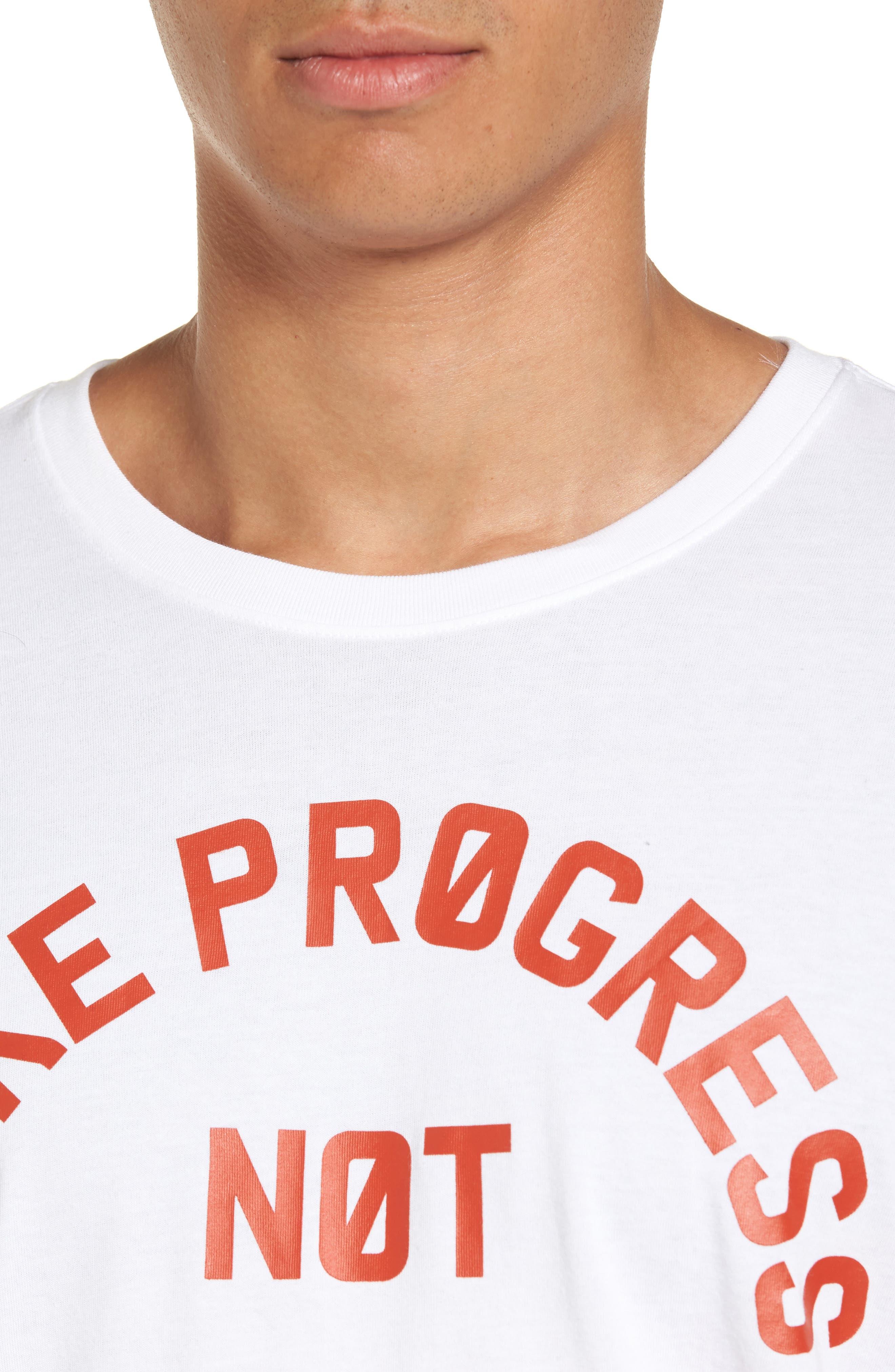 Dry No Excuses Training T-Shirt,                             Alternate thumbnail 4, color,                             White