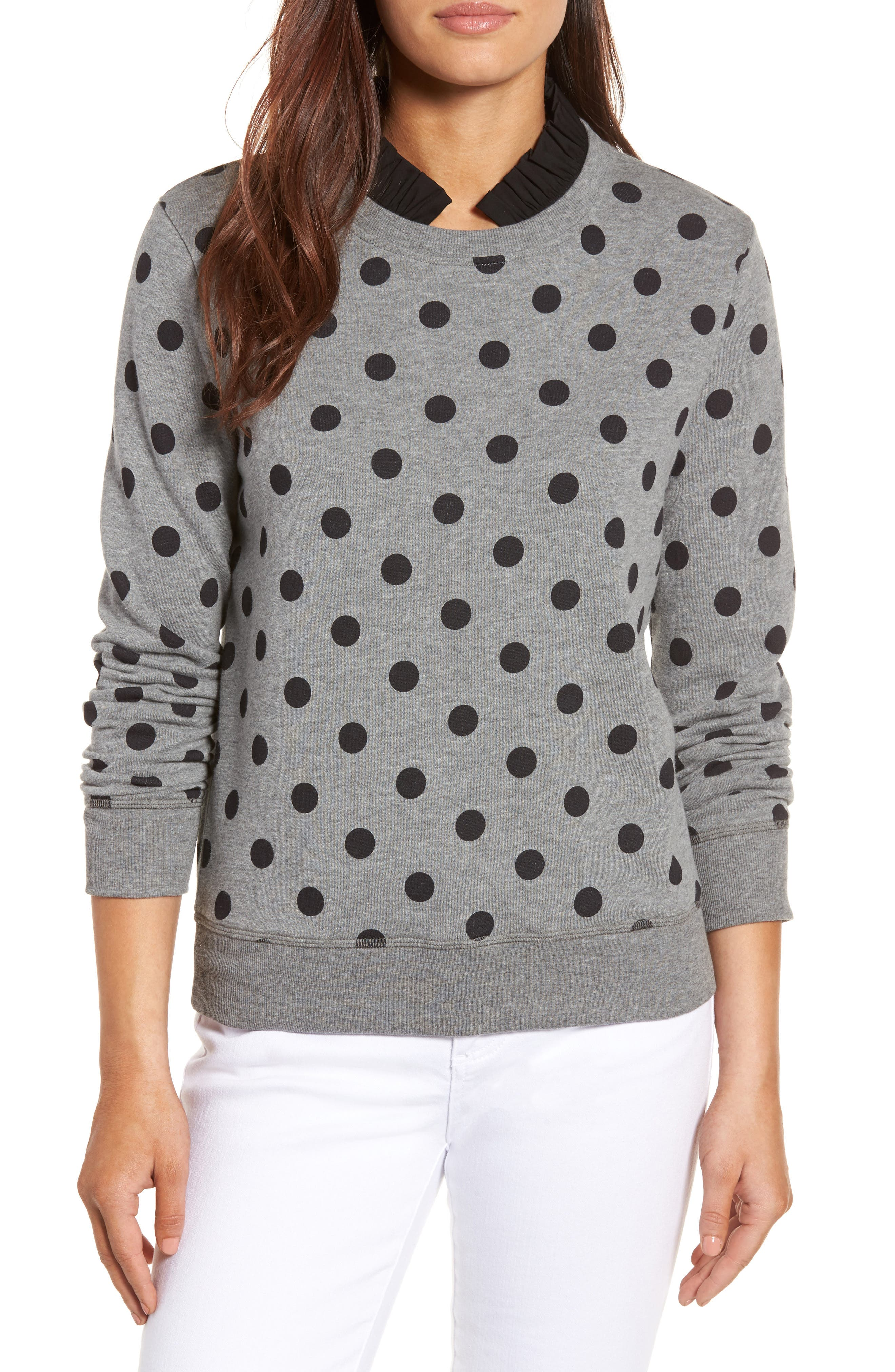 HALOGEN<SUP>®</SUP> Removable Collar Sweatshirt