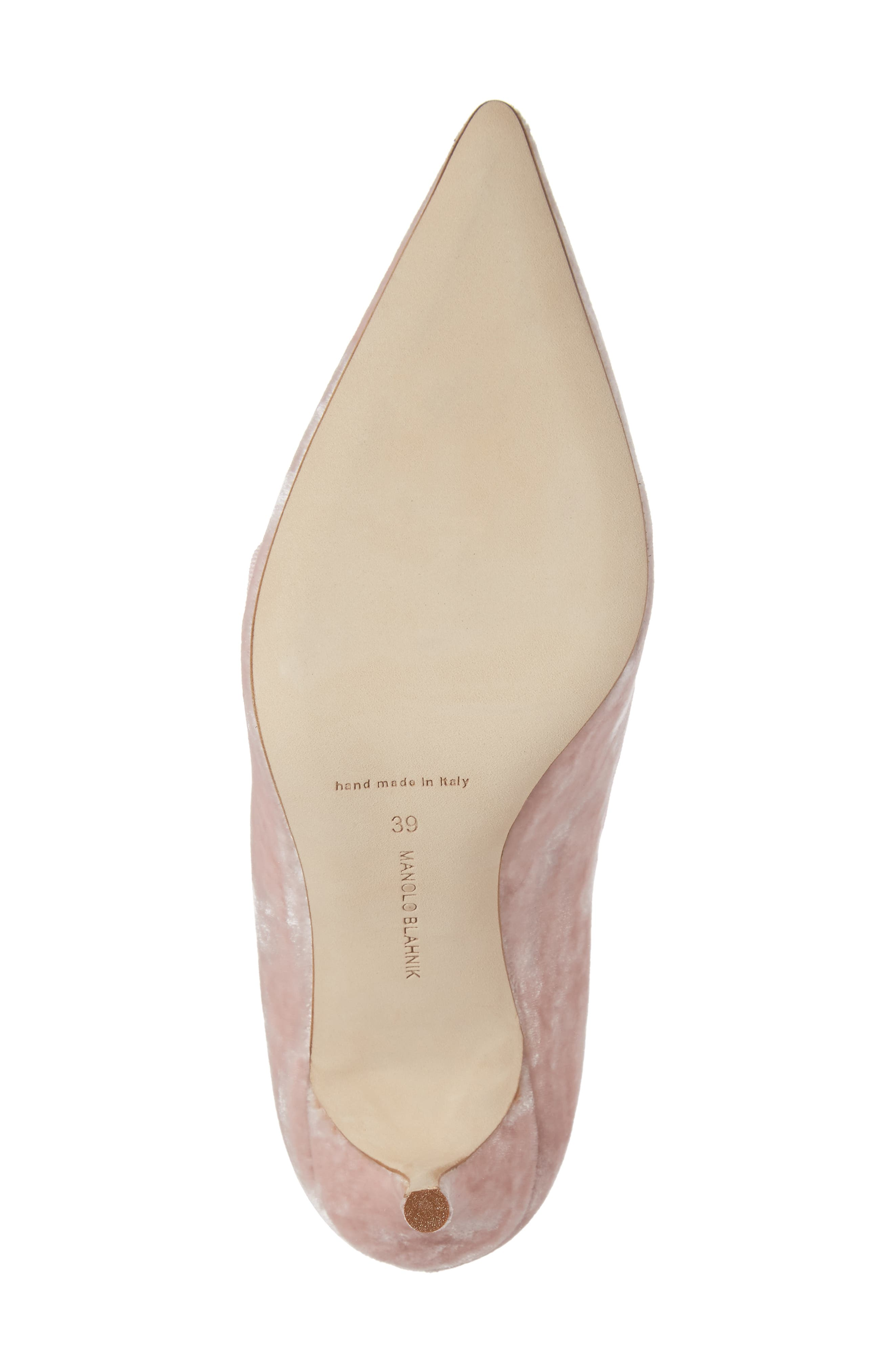 Decebalo Pump,                             Alternate thumbnail 6, color,                             Blush Velvet