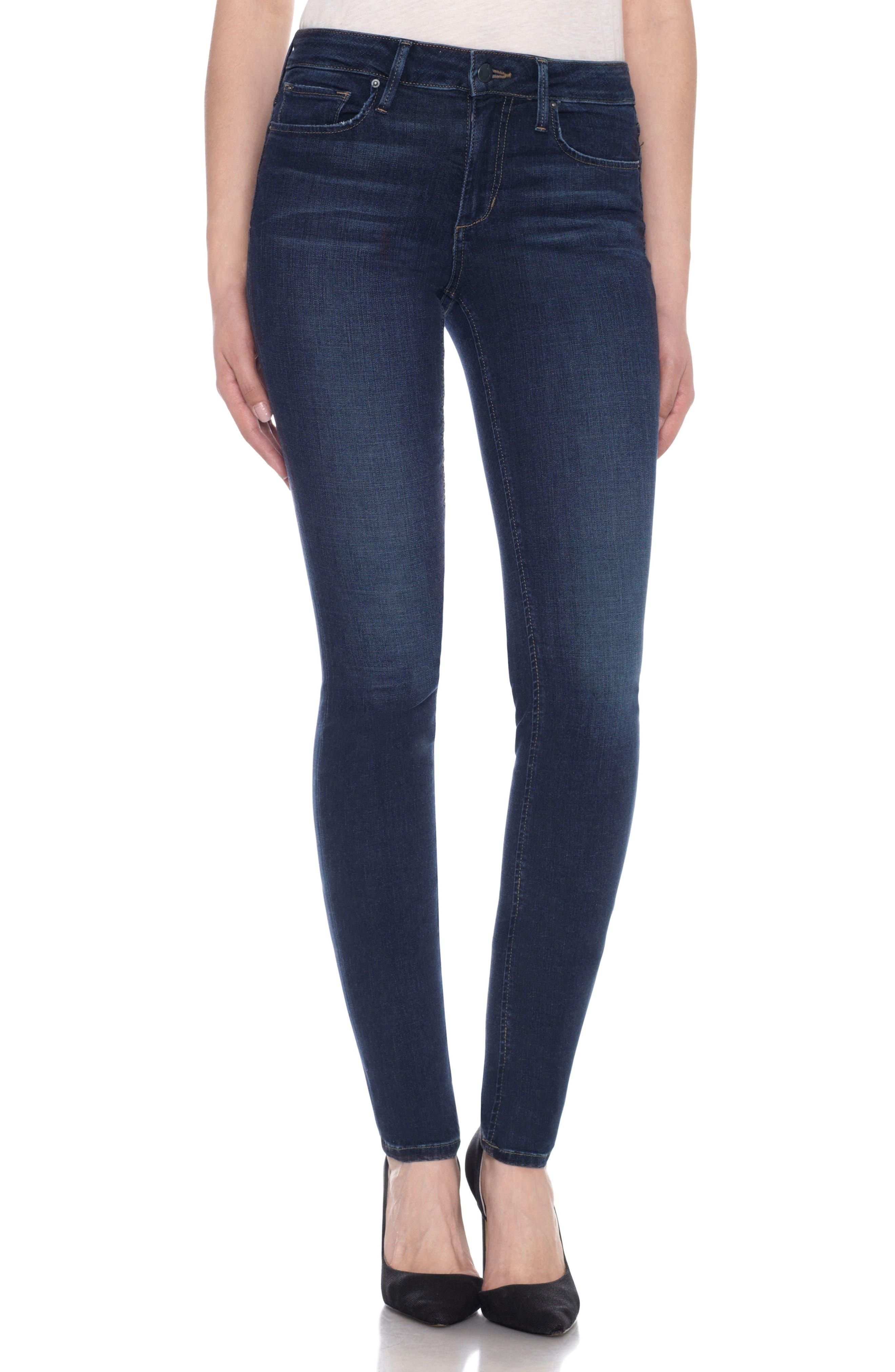 Flawless Twiggy Skinny Jeans,                             Main thumbnail 1, color,                             Dima