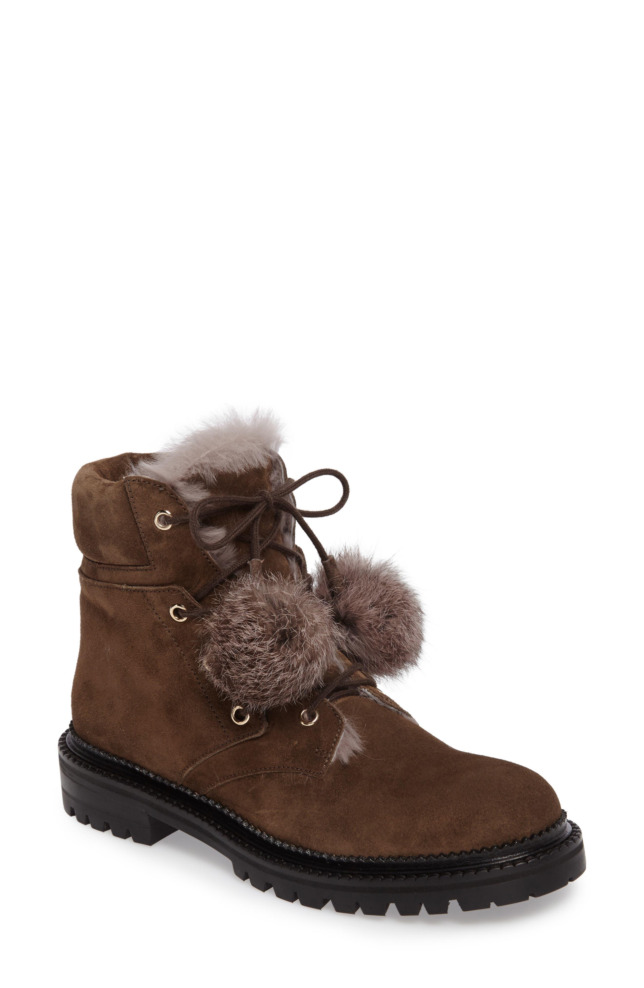 Alternate Image 1 Selected - Jimmy Choo Elba Genuine Rabbit Fur Boot (Women)