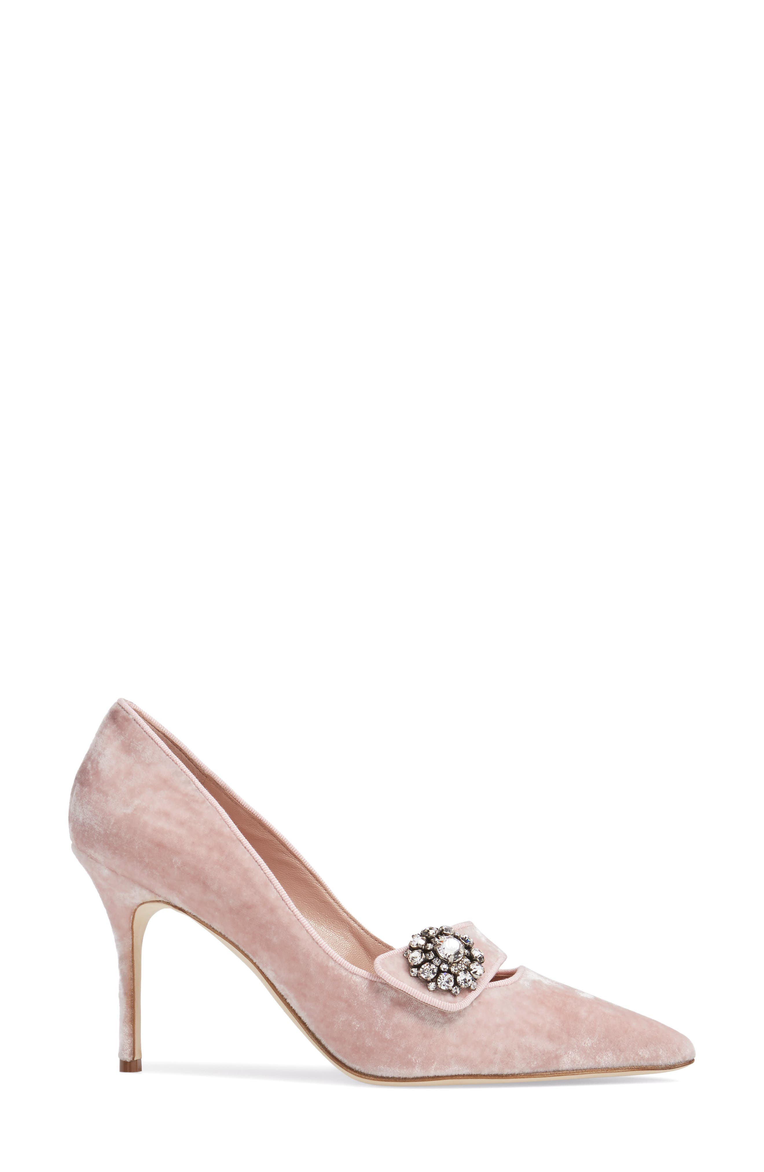 Decebalo Pump,                             Alternate thumbnail 3, color,                             Blush Velvet