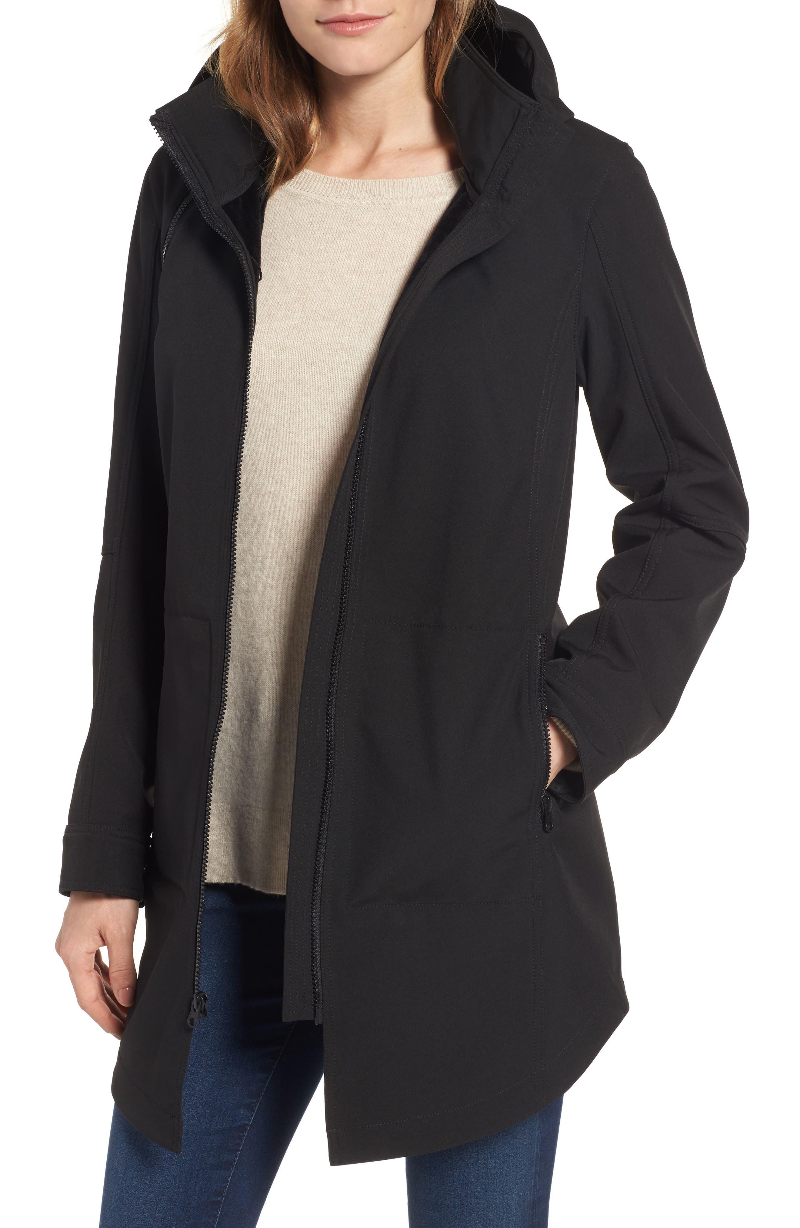 Kristen Blake Stand Collar Raincoat with Detachable Hood (Regular & Petite)