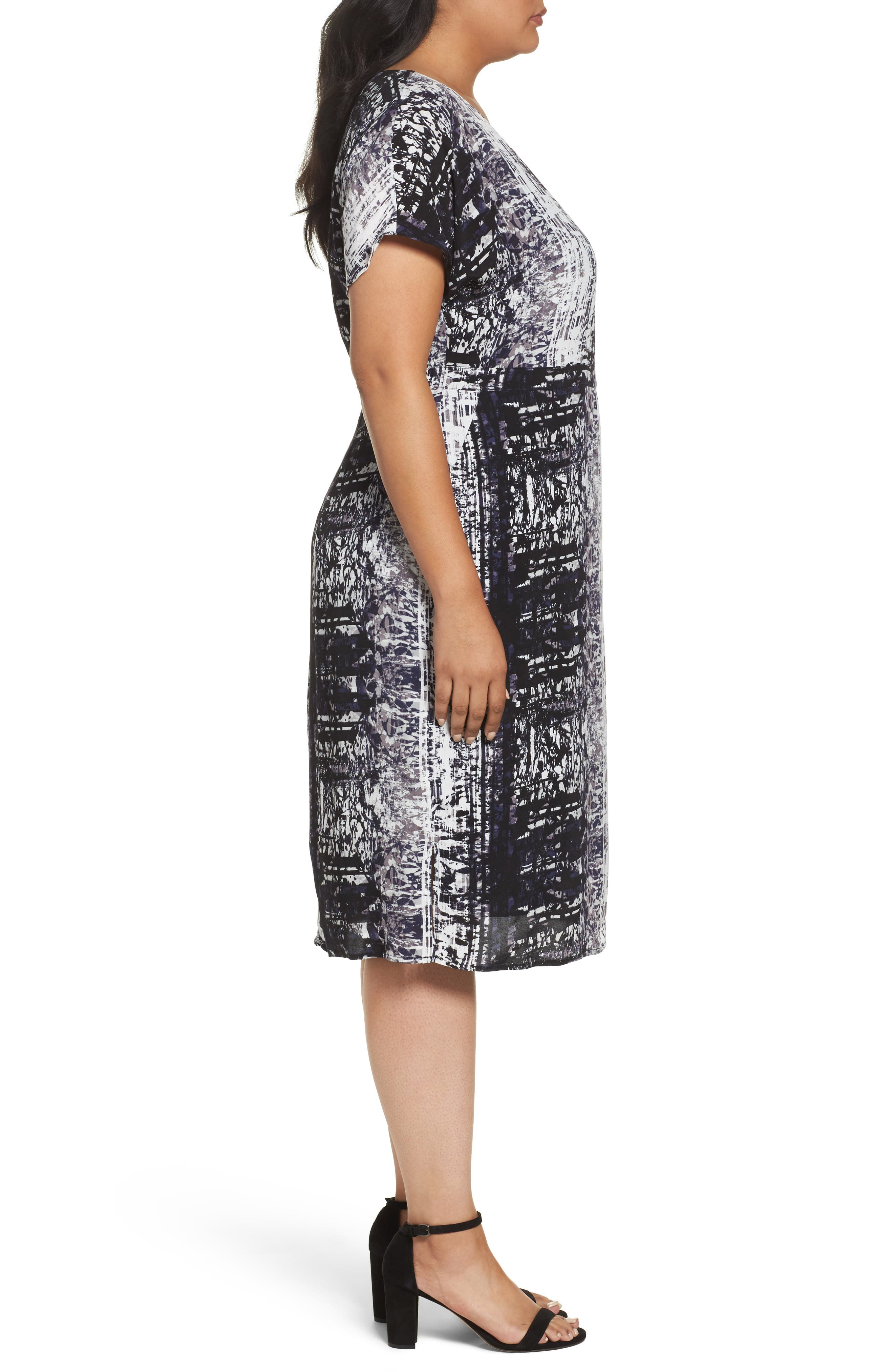 Alternate Image 3  - Sejour Dolman Sleeve Shift Dress (Plus Size)