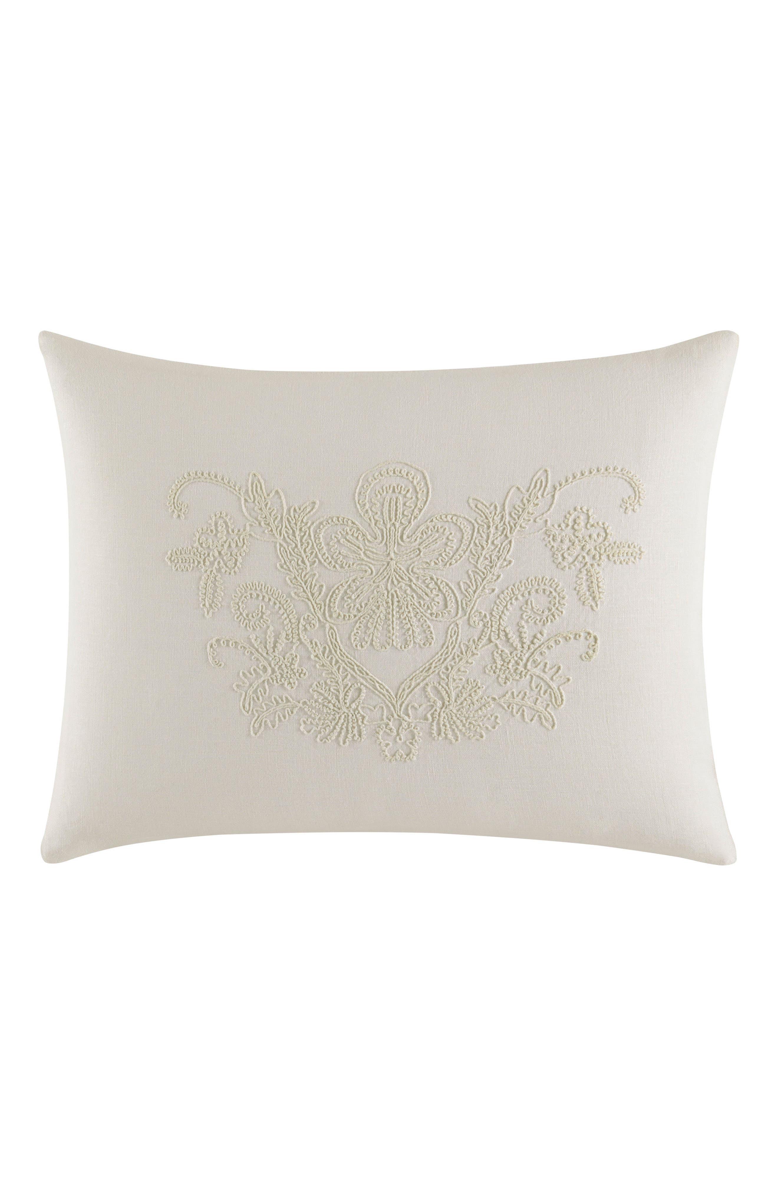 Passementerie Breakfast Linen Accent Pillow,                         Main,                         color, Natural