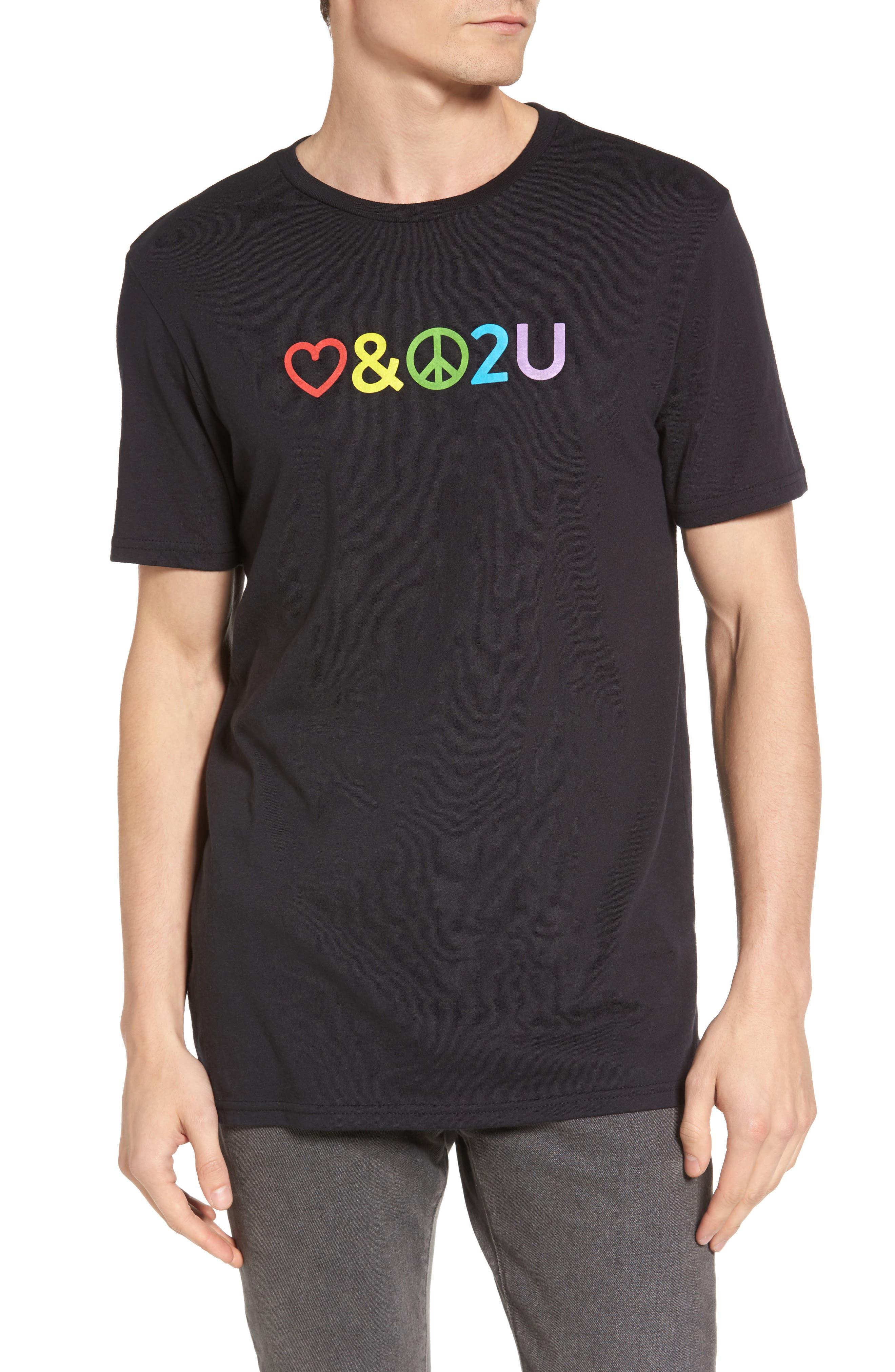 Pride T-Shirt,                         Main,                         color, Black Rock