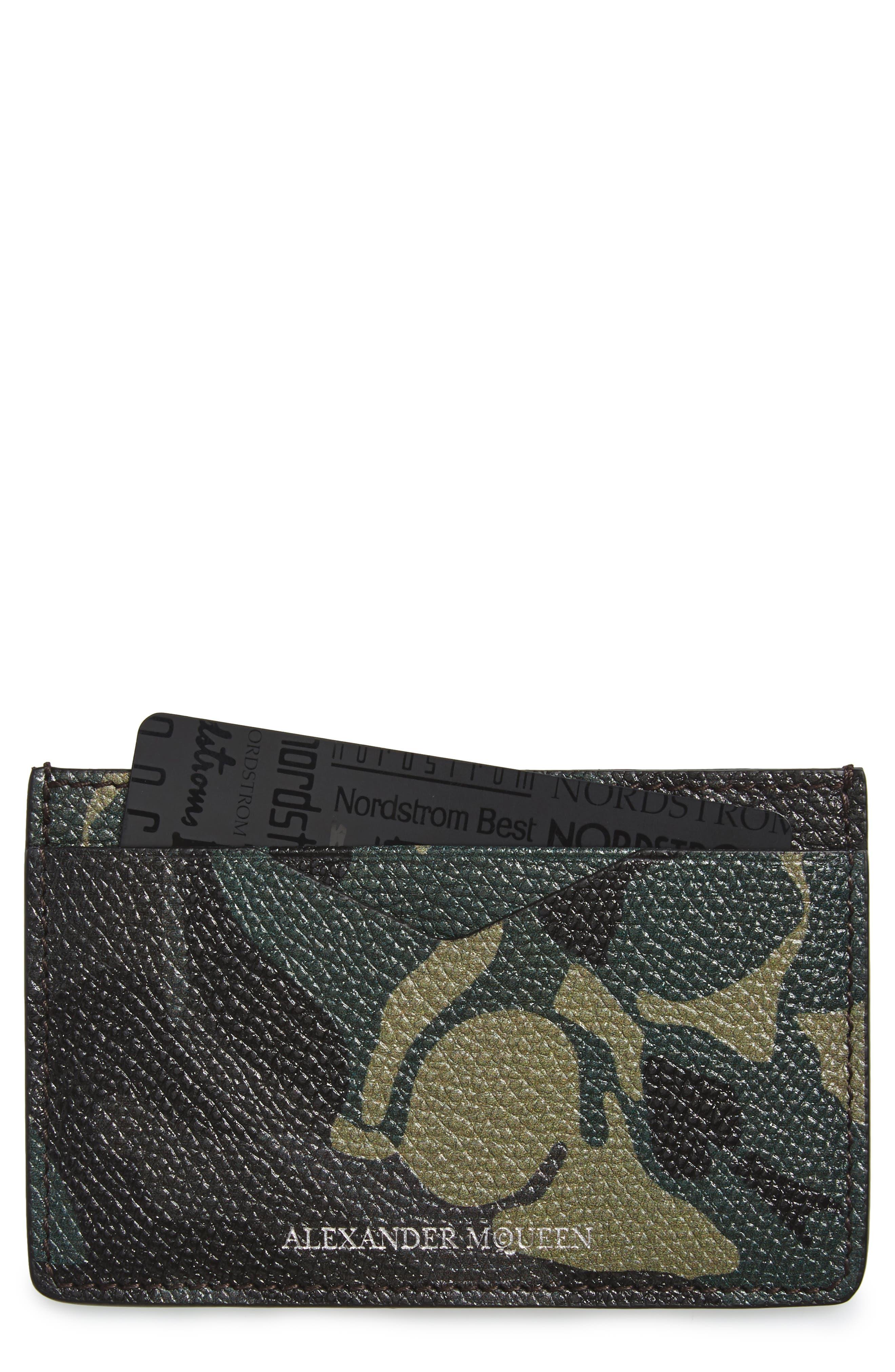 ALEXANDER MCQUEEN Camo Leather Card Case