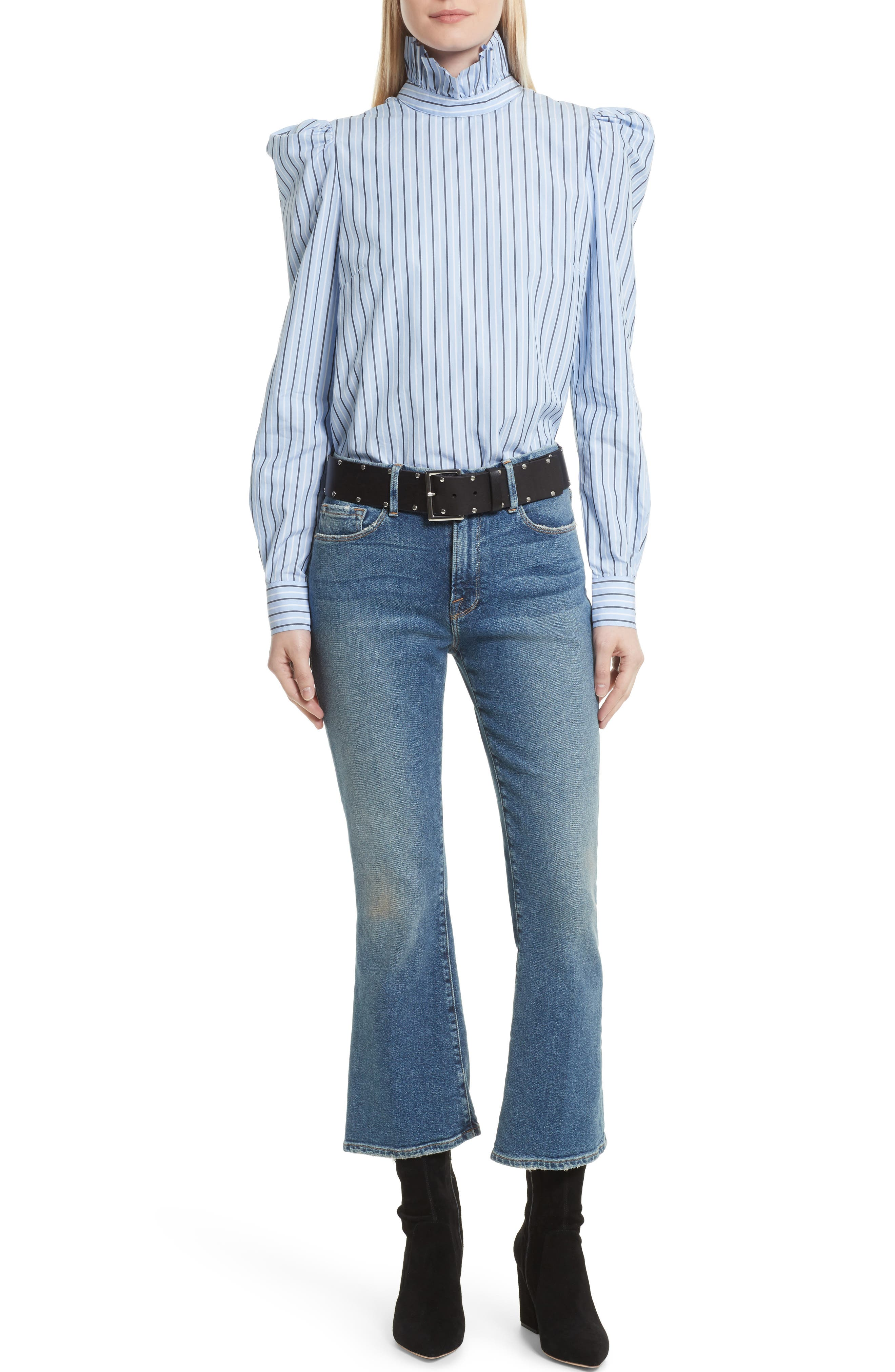Crop Mini Boot Jeans,                             Alternate thumbnail 8, color,                             Elmont Ridge