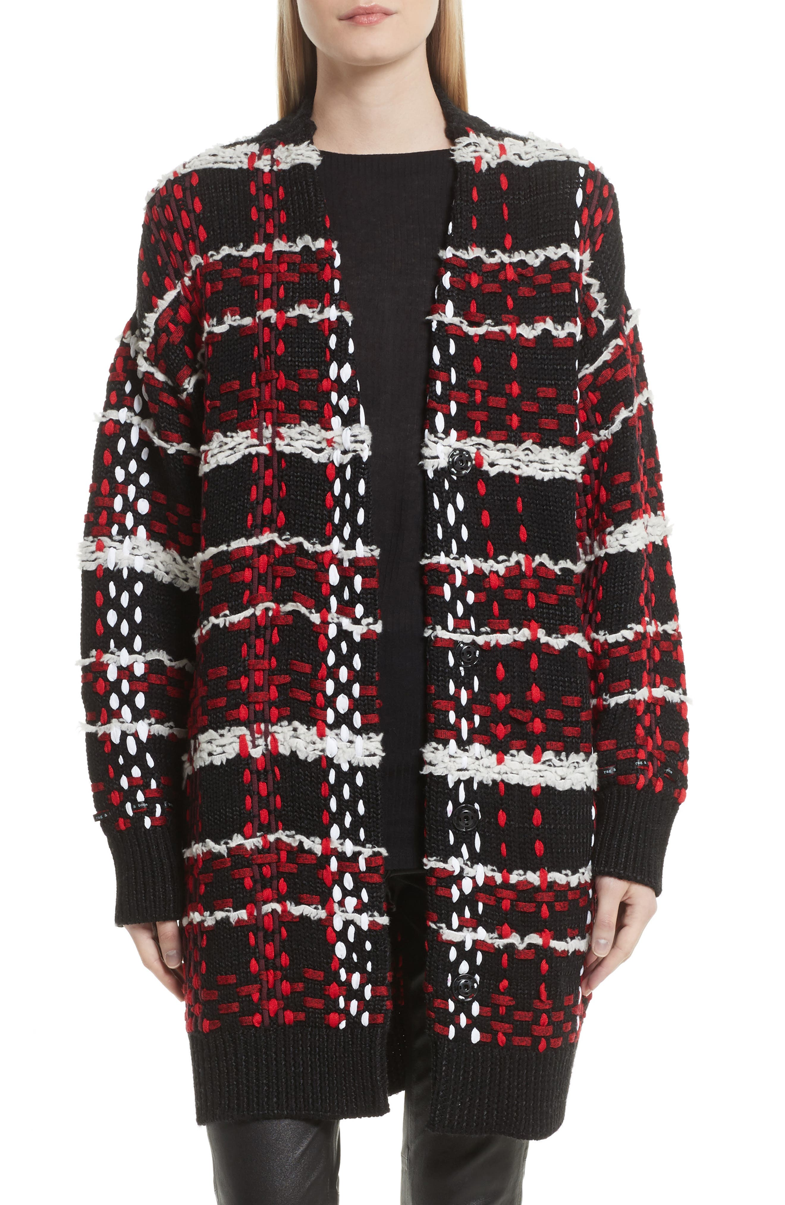 rag & bone Dawson Plaid Knit Coat