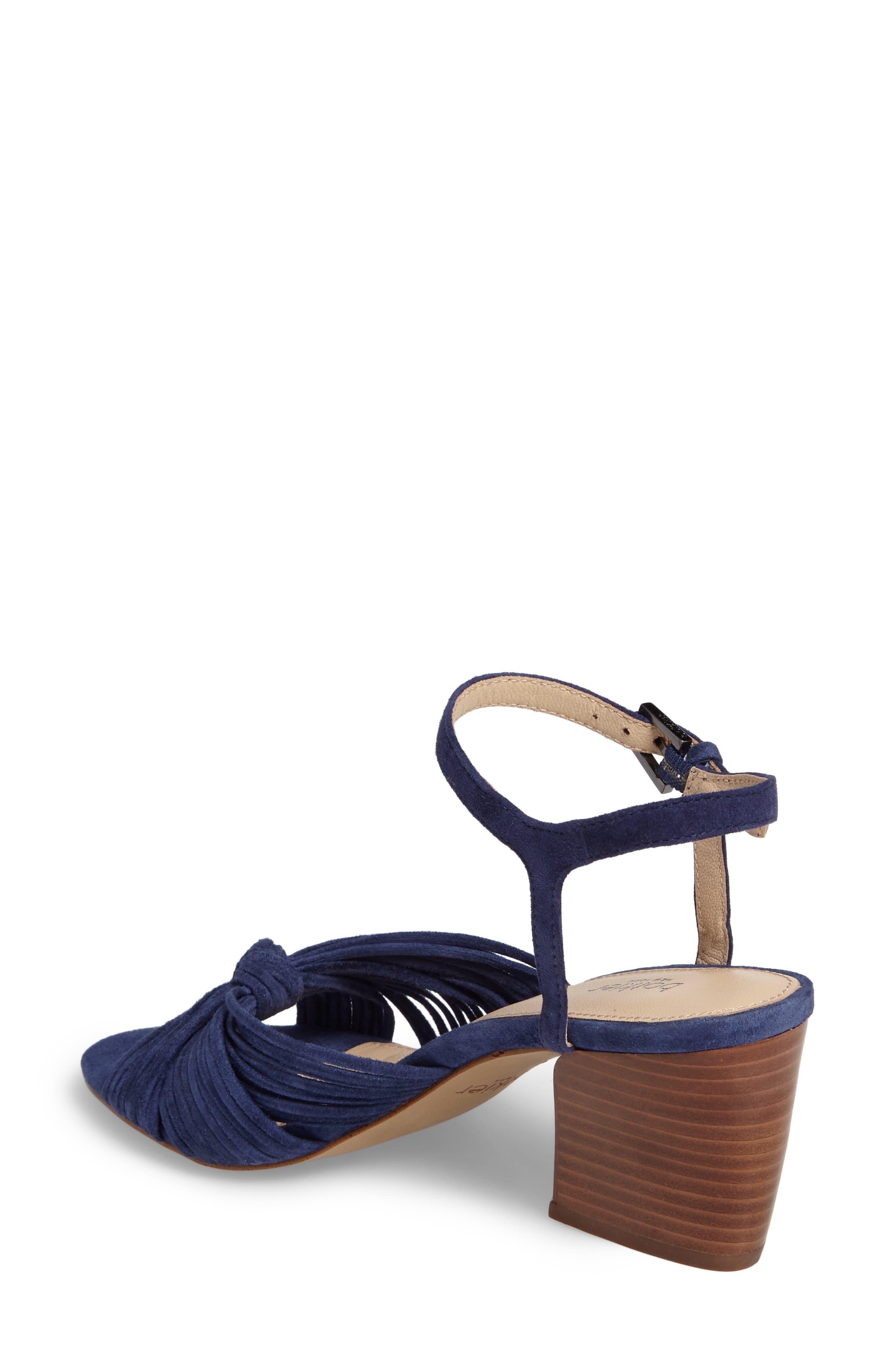 Patsy Block Heel Sandal,                             Alternate thumbnail 2, color,                             Navy