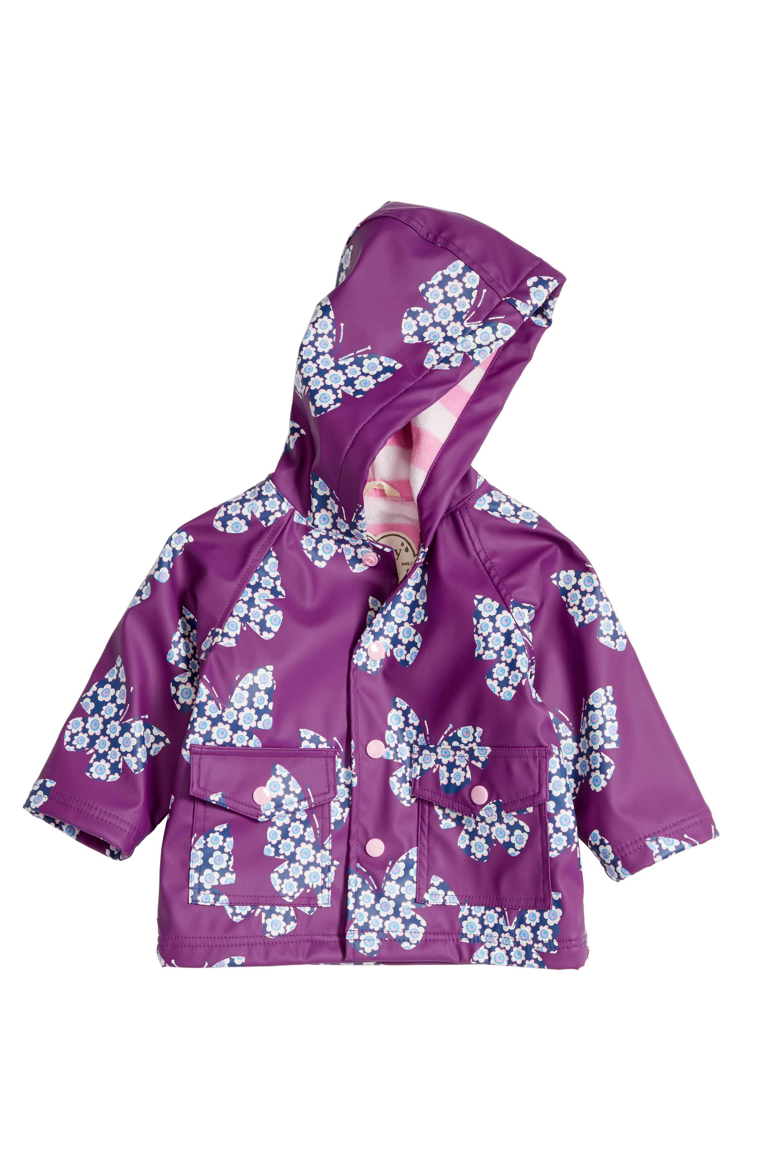 Hatley Butterflies Hooded Raincoat (Baby Girls)