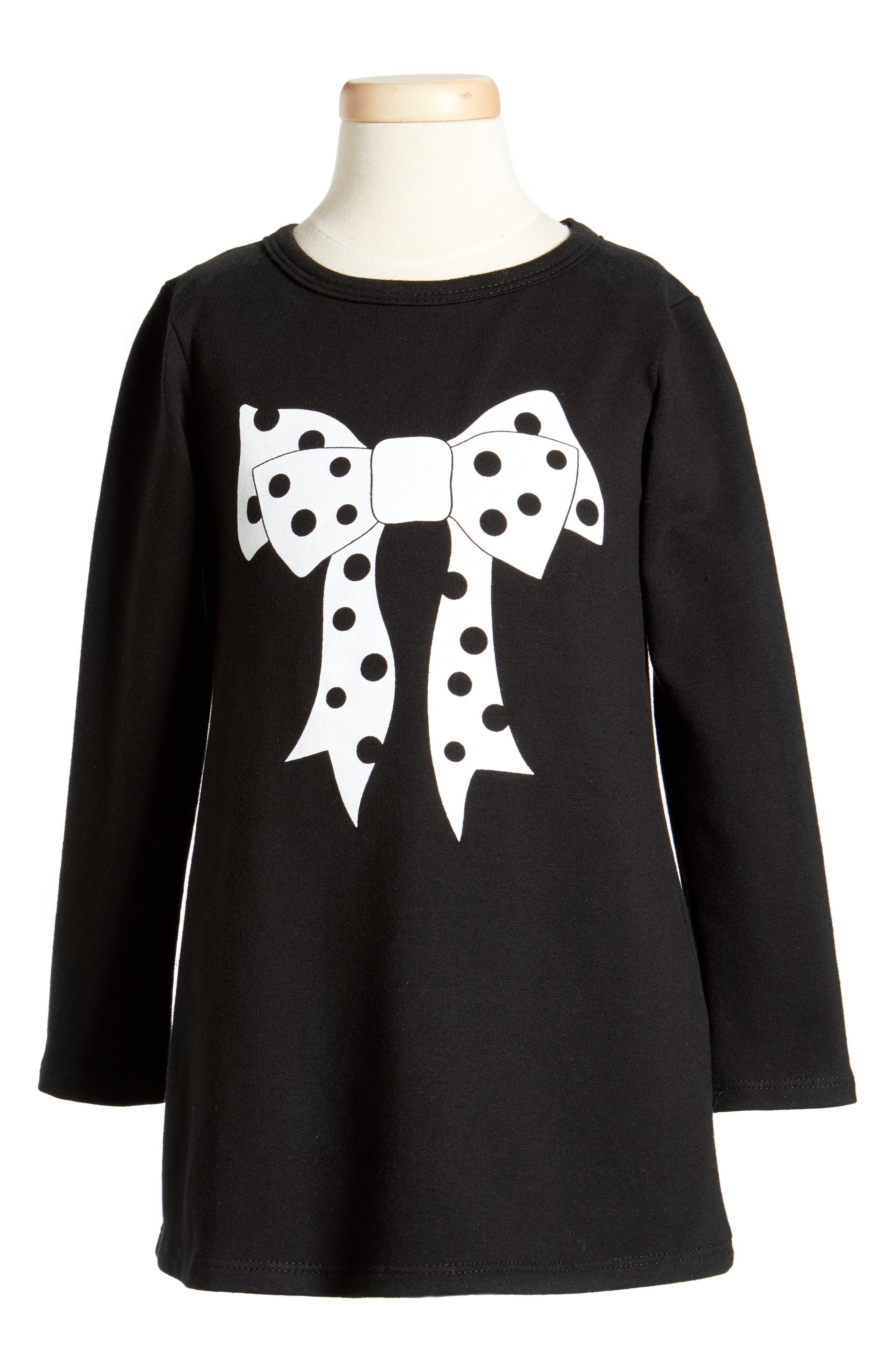Alternate Image 1 Selected - Cotton Emporium Bow Dress (Toddler Girls, Little Girls & Big Girls)