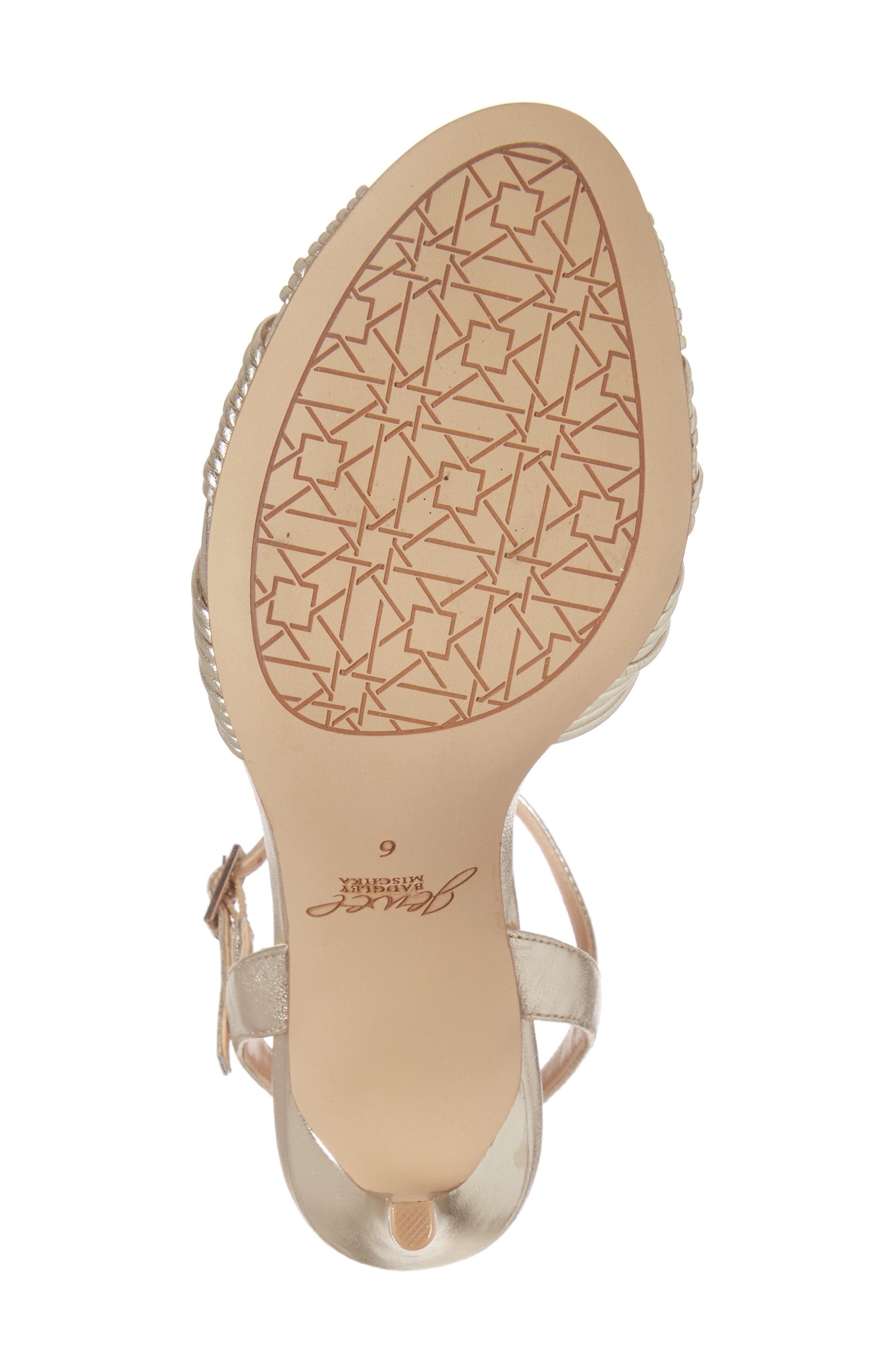 Alternate Image 6  - Jewel Badgley Mischka Lady Ankle Strap Sandal (Women)