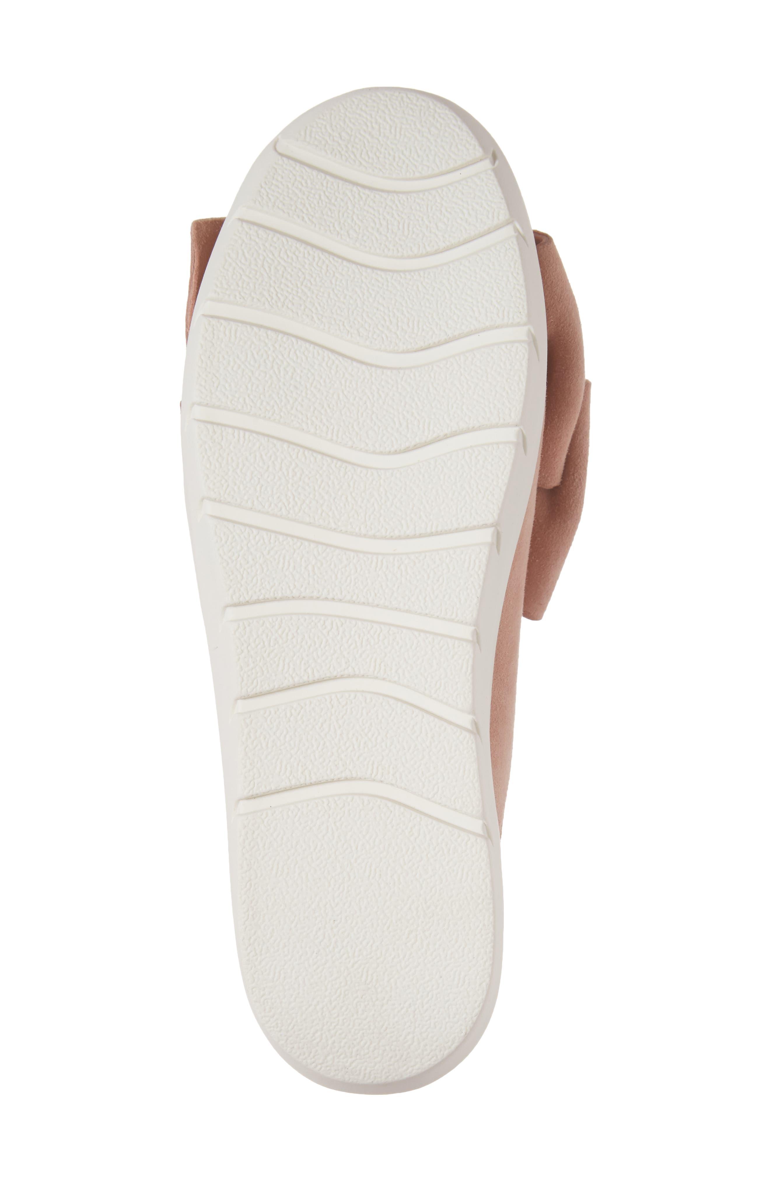 Tibow Platform Slide Sneaker,                             Alternate thumbnail 6, color,                             Pale Pink Suede