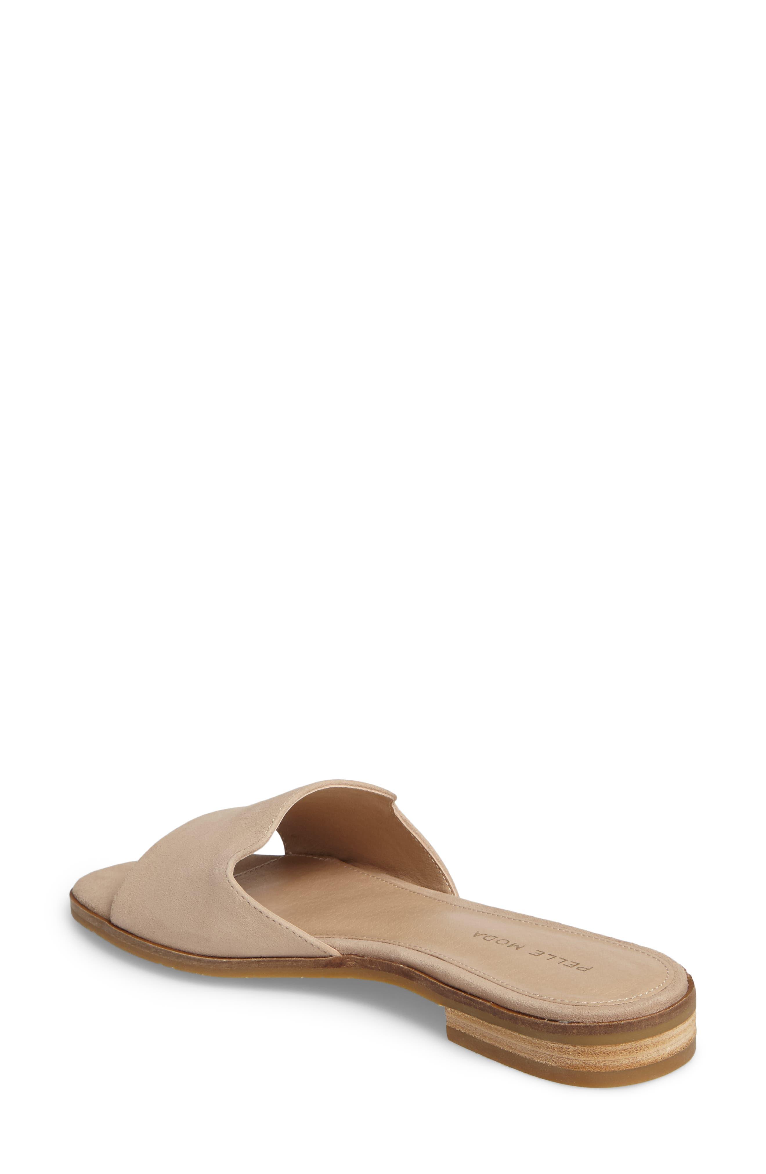 Hailey Slide Sandal,                             Alternate thumbnail 2, color,                             Sand Leather