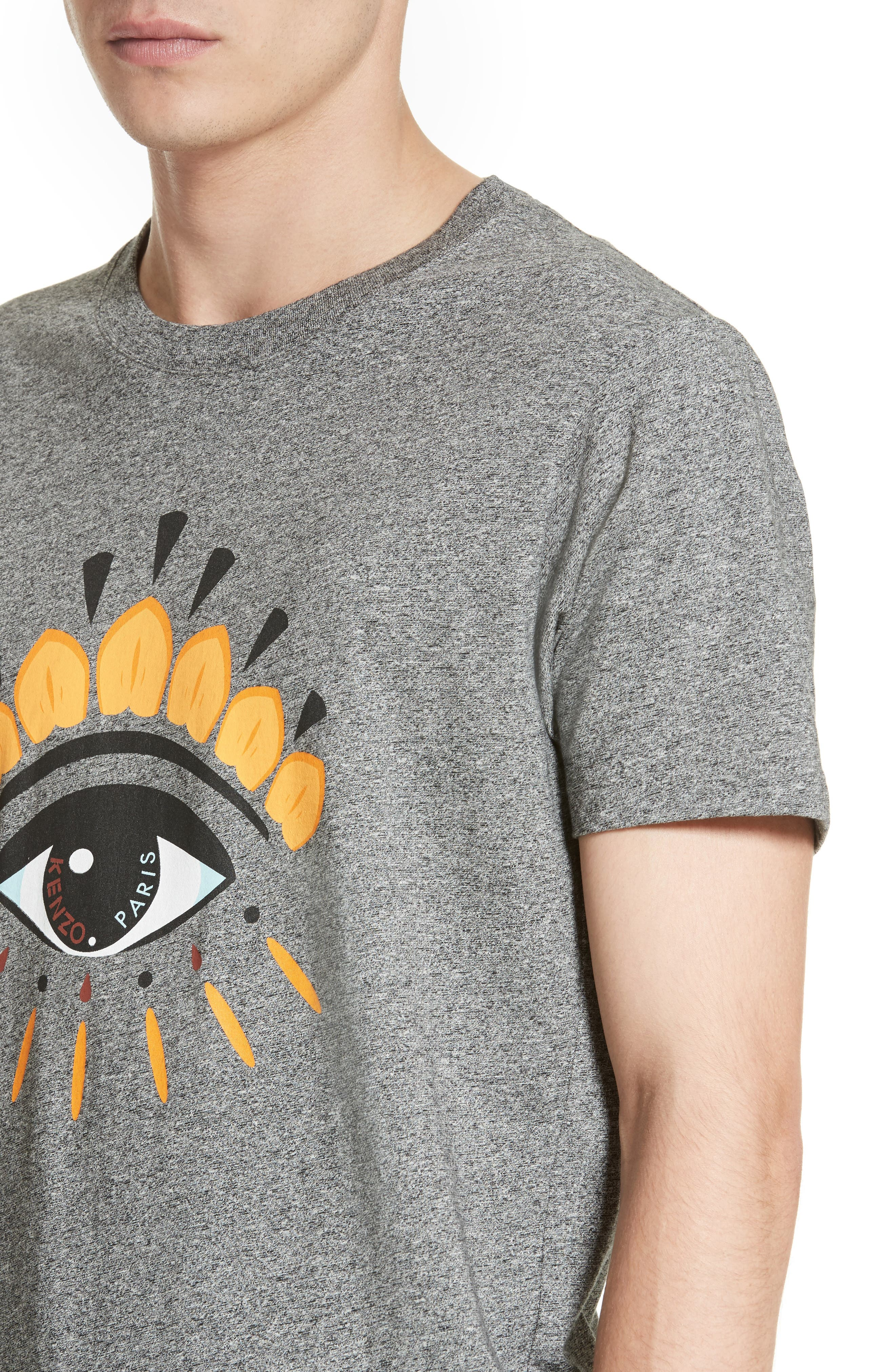 Embroidered Eye T-Shirt,                             Alternate thumbnail 4, color,                             Antracite