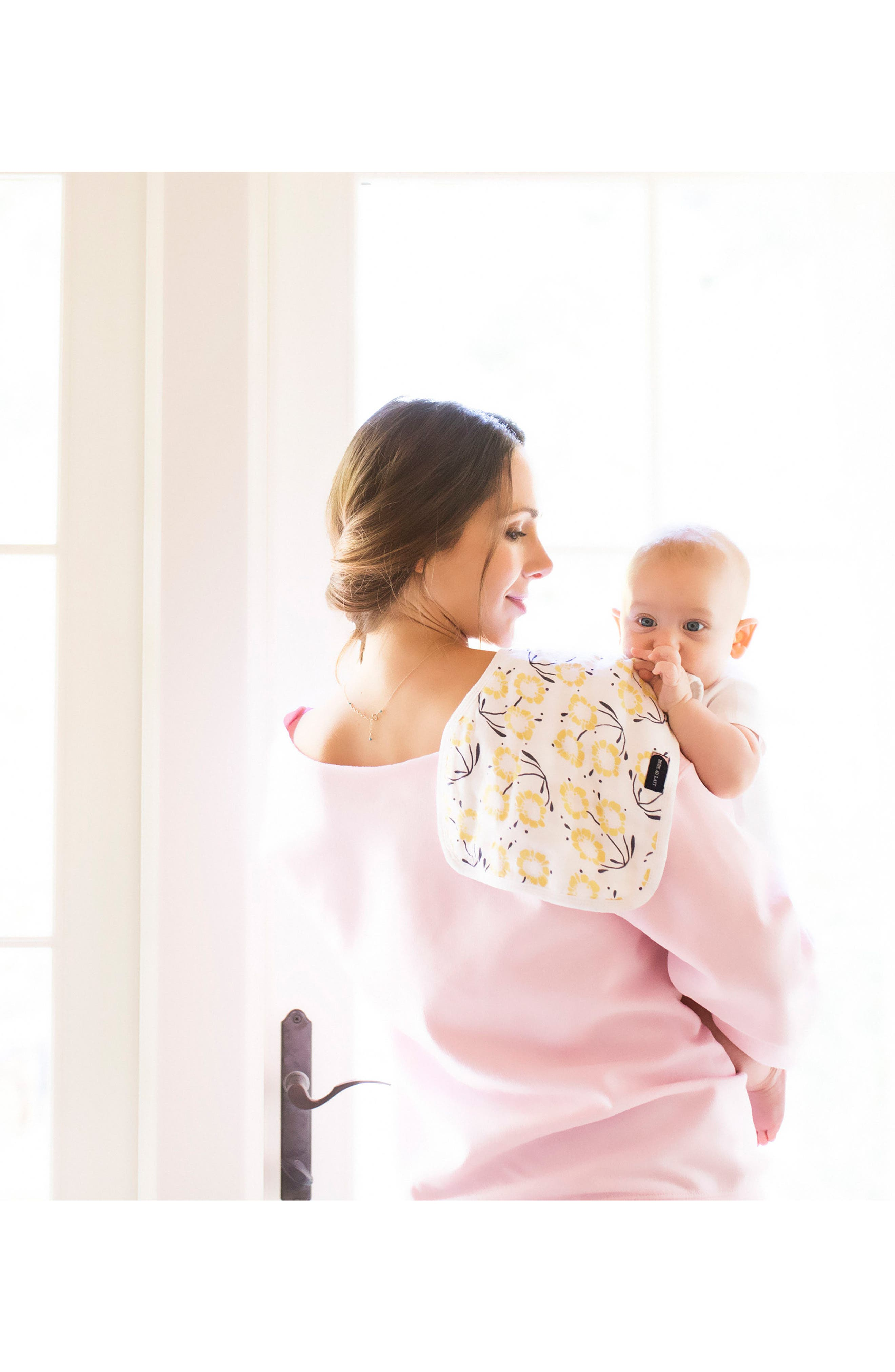 Nursing Cover & Burp Cloth Set,                             Alternate thumbnail 3, color,                             Sorrento