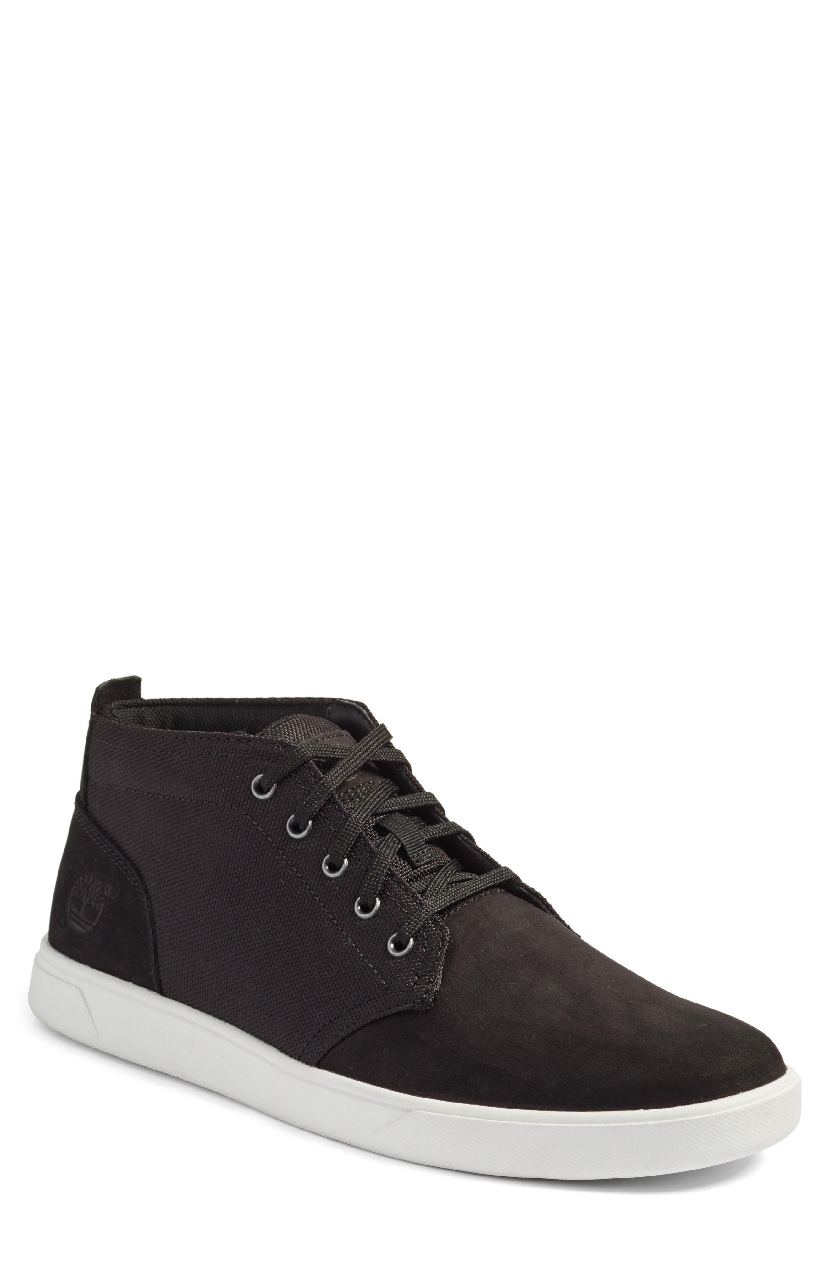 Earthkeepers<sup>™</sup> 'Groveton' Chukka Sneaker,                         Main,                         color, Black Nubuck/ Canvas