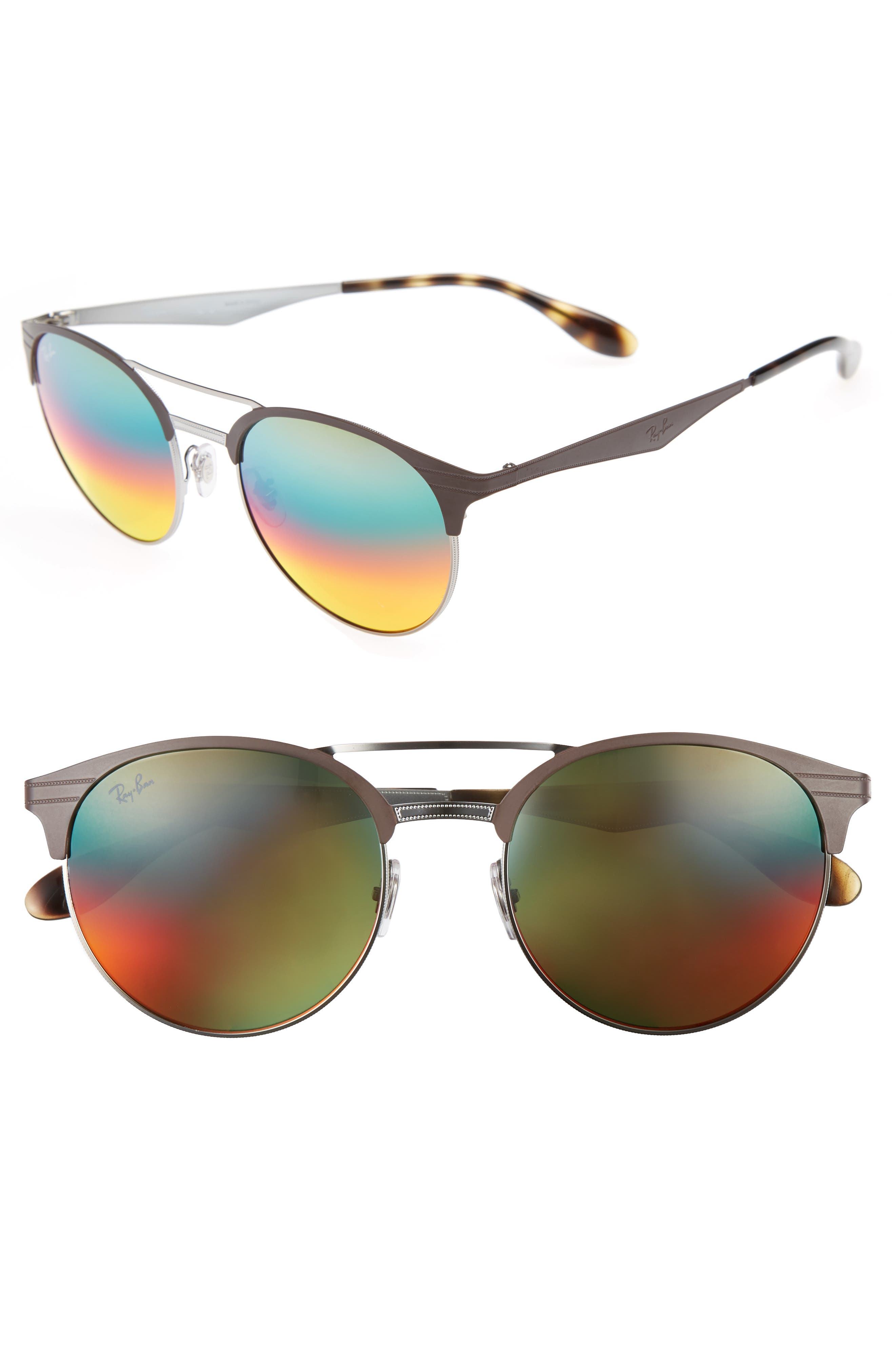 Main Image - Ray-Ban Highstreet 54mm Round Sunglasses