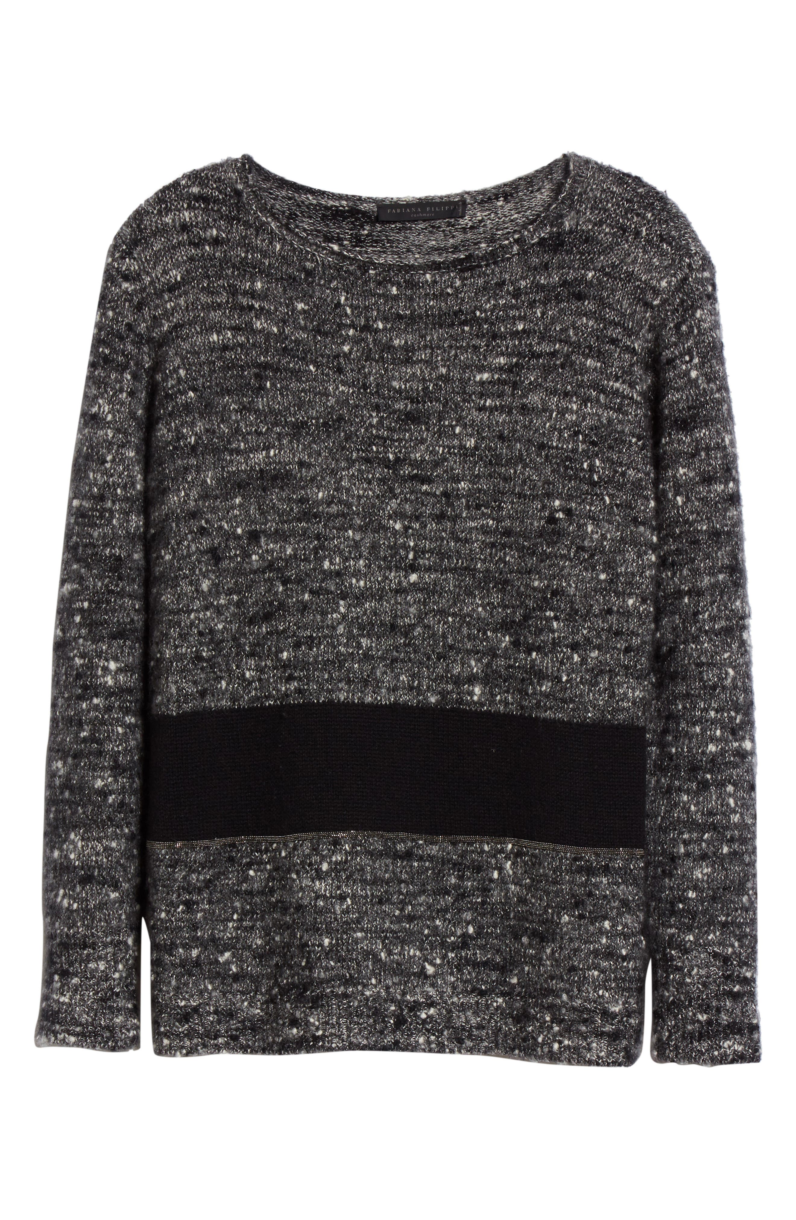 Alternate Image 4  - Fabiana Filippi Cashmere & Silk Blend Tweed Pullover