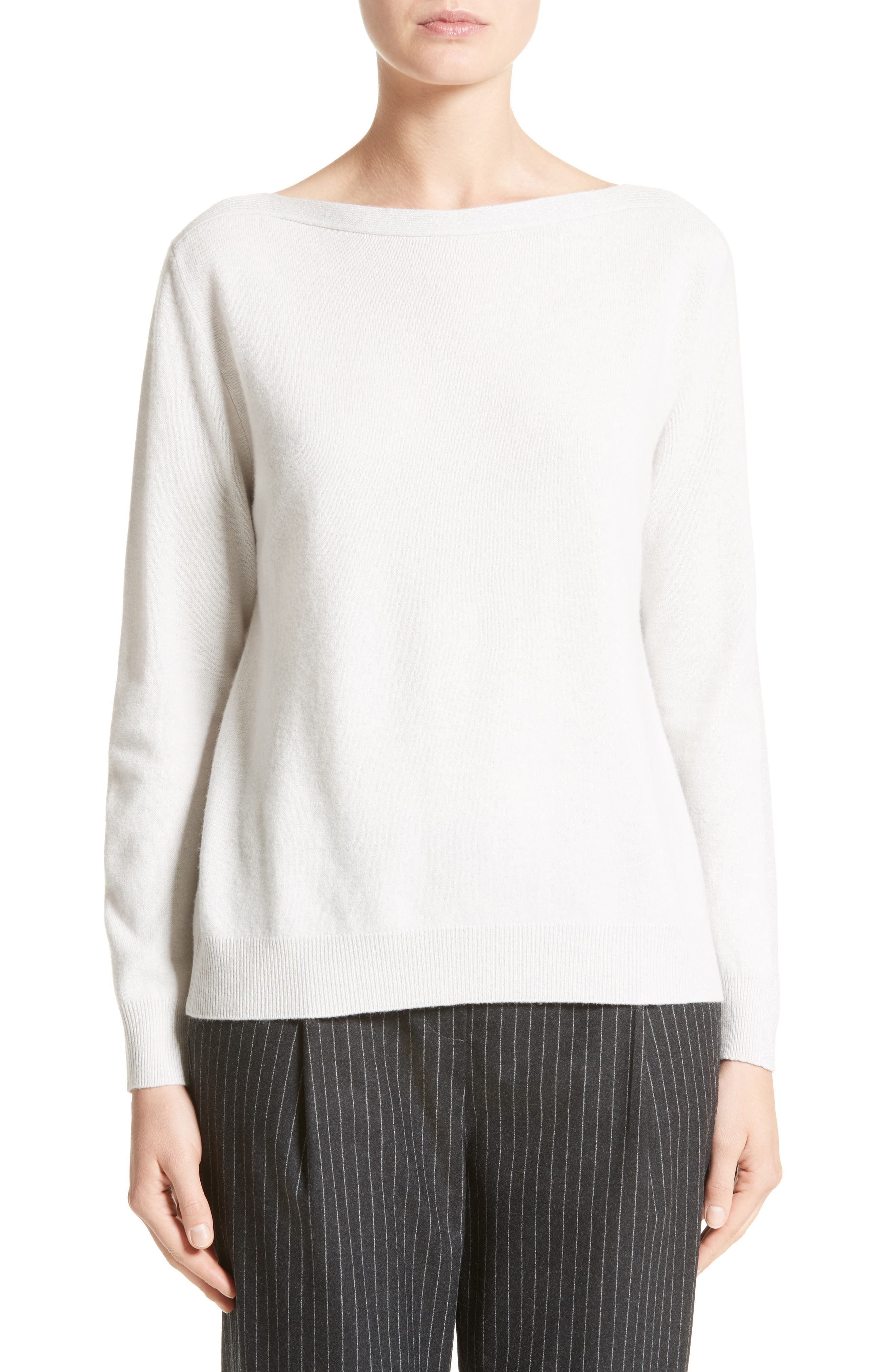 Wool, Silk & Cashmere Sweater,                         Main,                         color, Ice