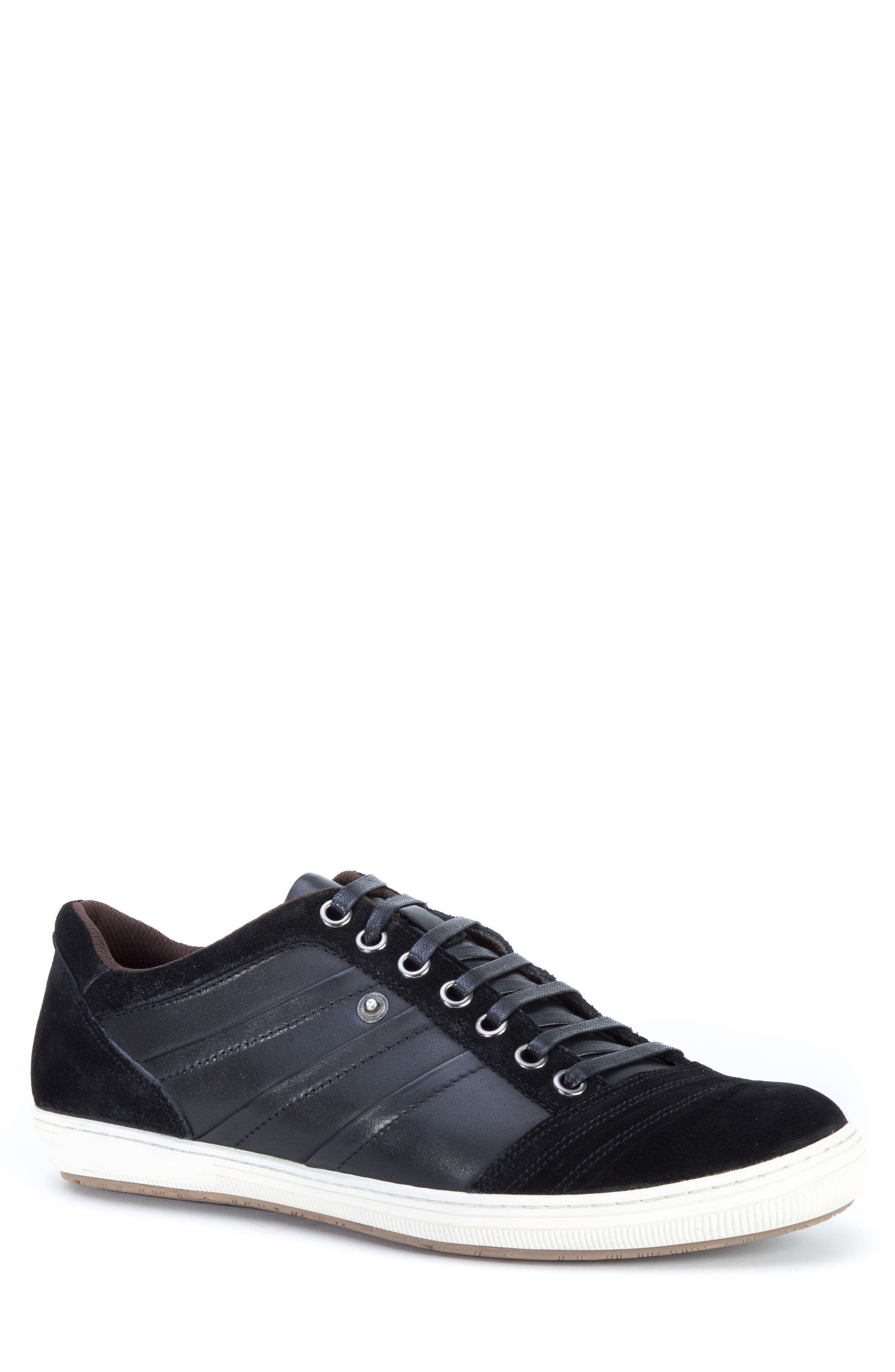 Jive Sneaker,                         Main,                         color, Black Leather/Suede