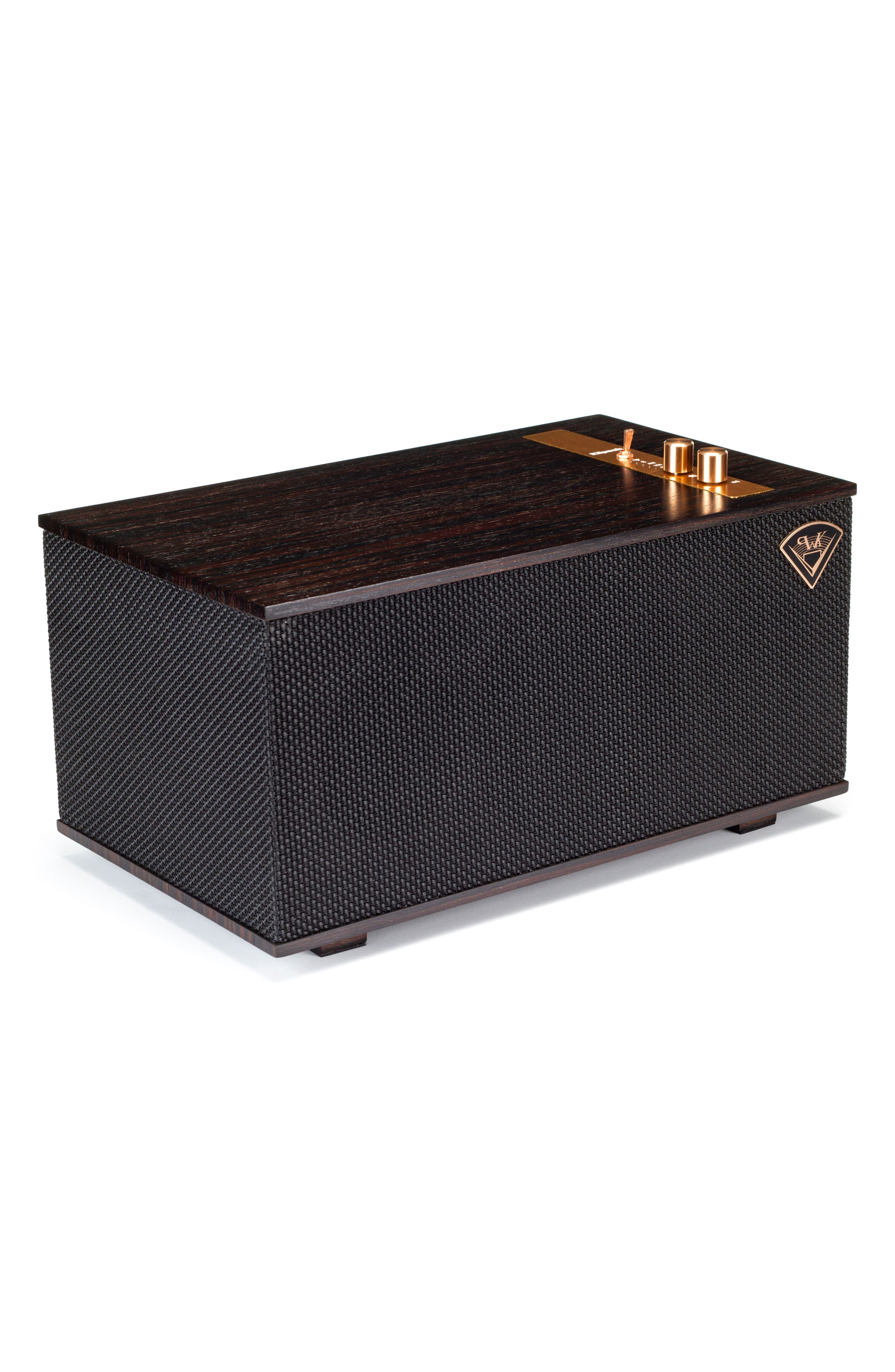 Klipsch The Three Bluetooth<sup>®</sup> Speaker,                             Alternate thumbnail 3, color,                             Ebony