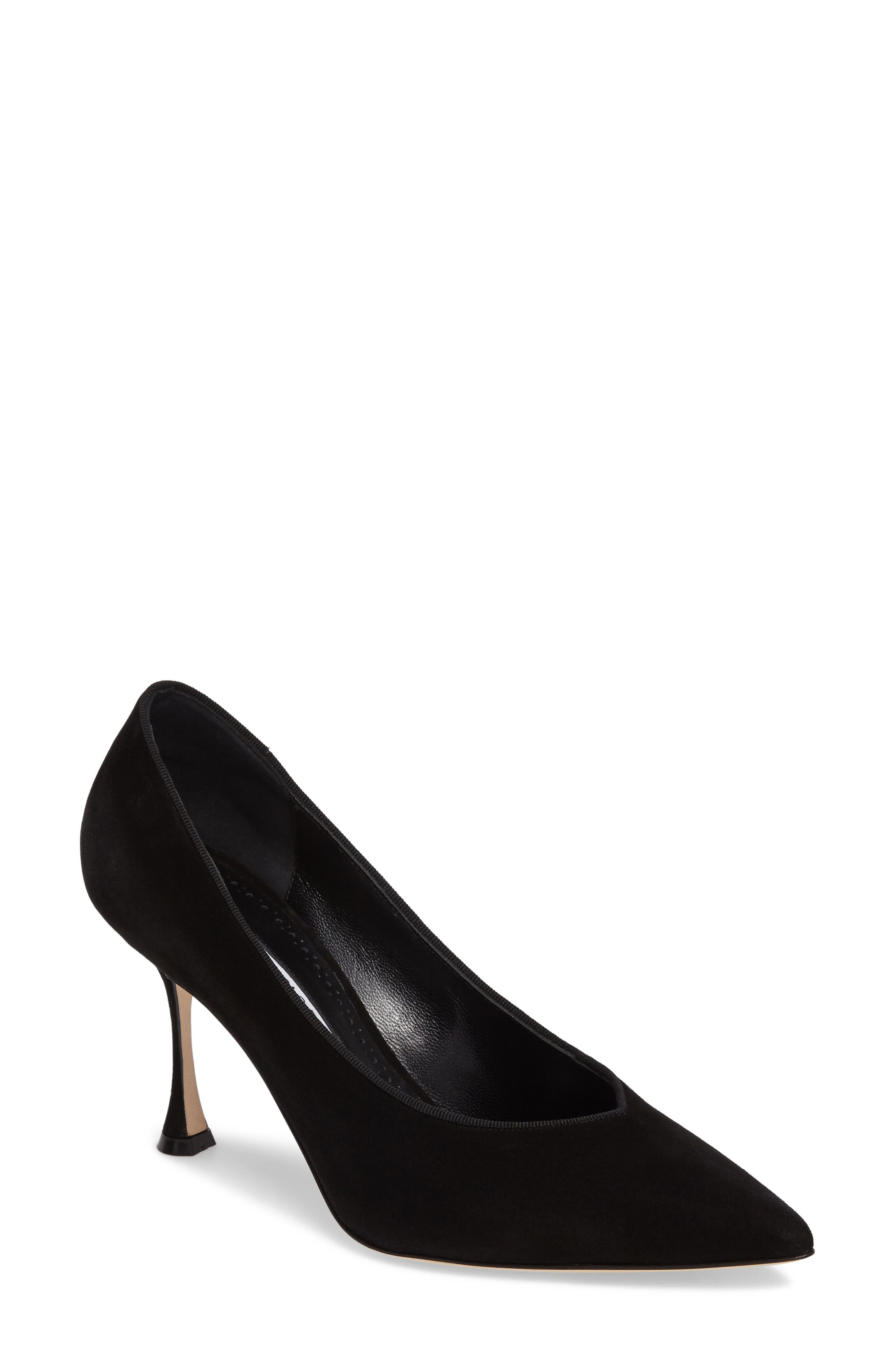 Urgenze Pointy Toe Pump,                             Main thumbnail 1, color,                             Black Suede