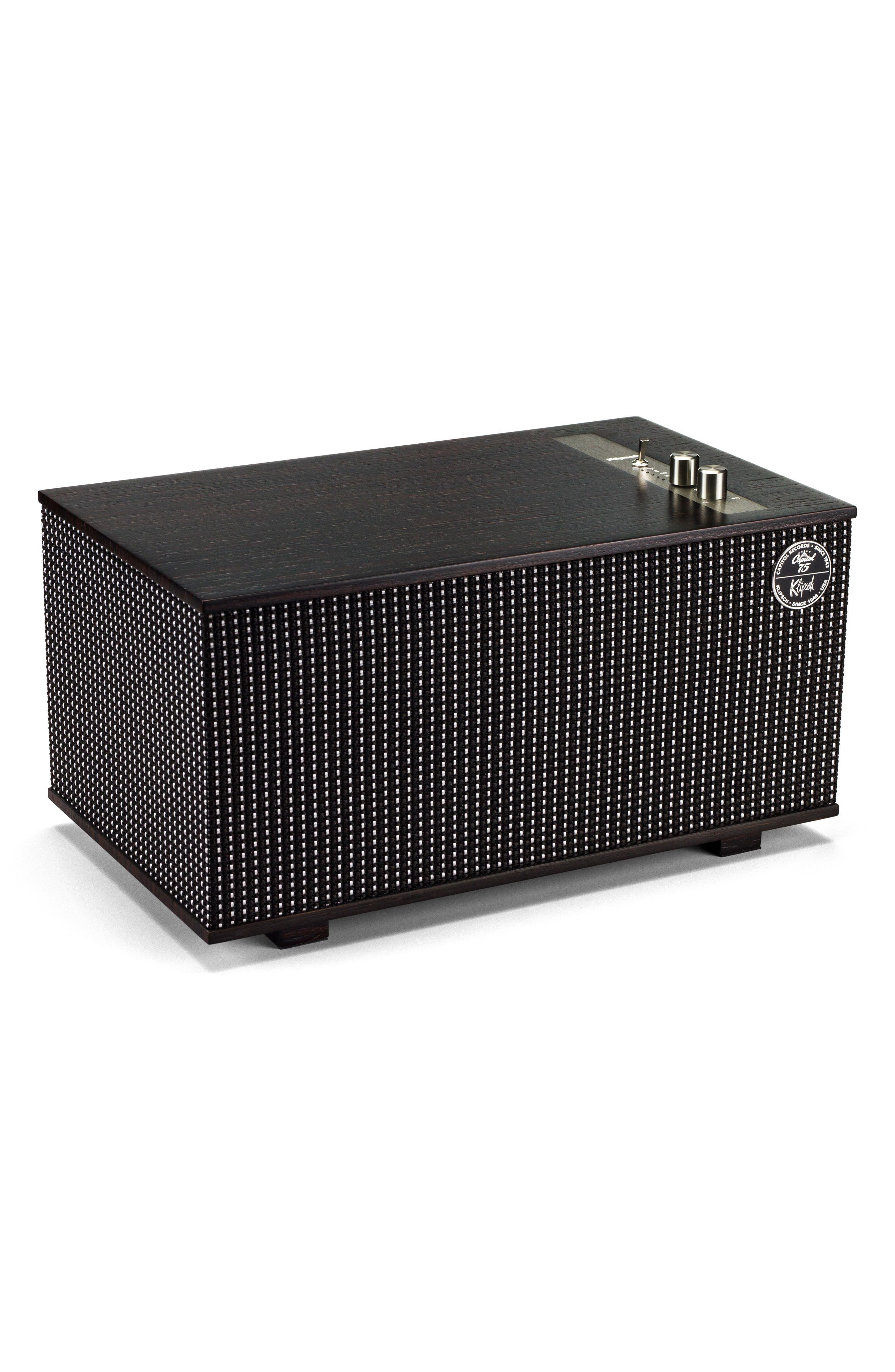 Klipsch The Capitol Three Bluetooth<sup>®</sup> Speaker,                             Alternate thumbnail 2, color,                             Ebony/ Silver