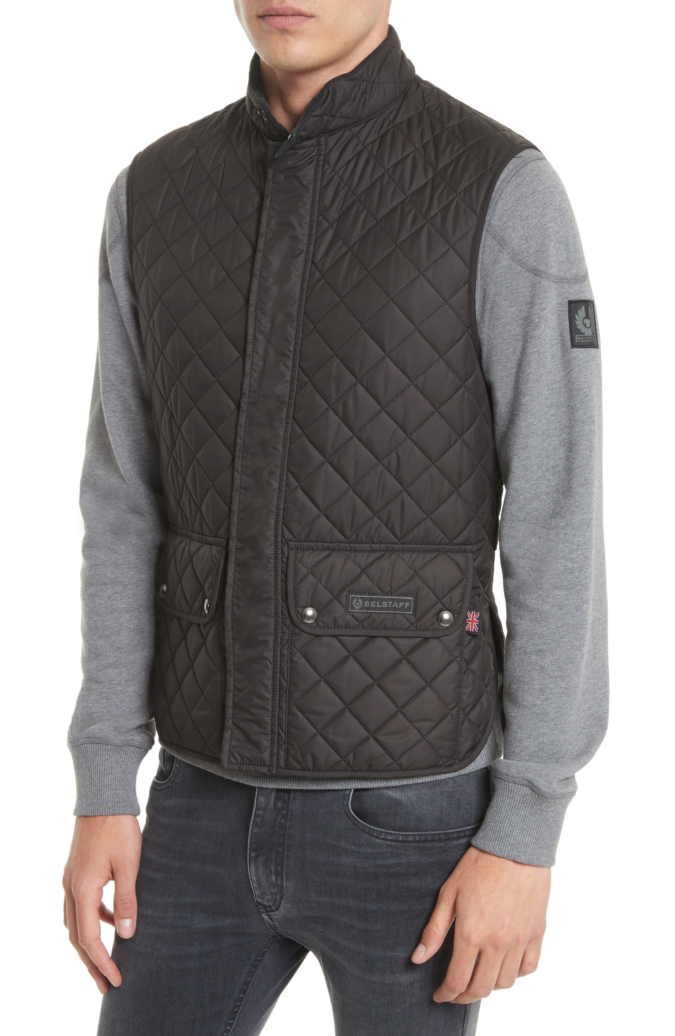 Waistcoat Tech Quilted Vest,                             Alternate thumbnail 4, color,                             Black