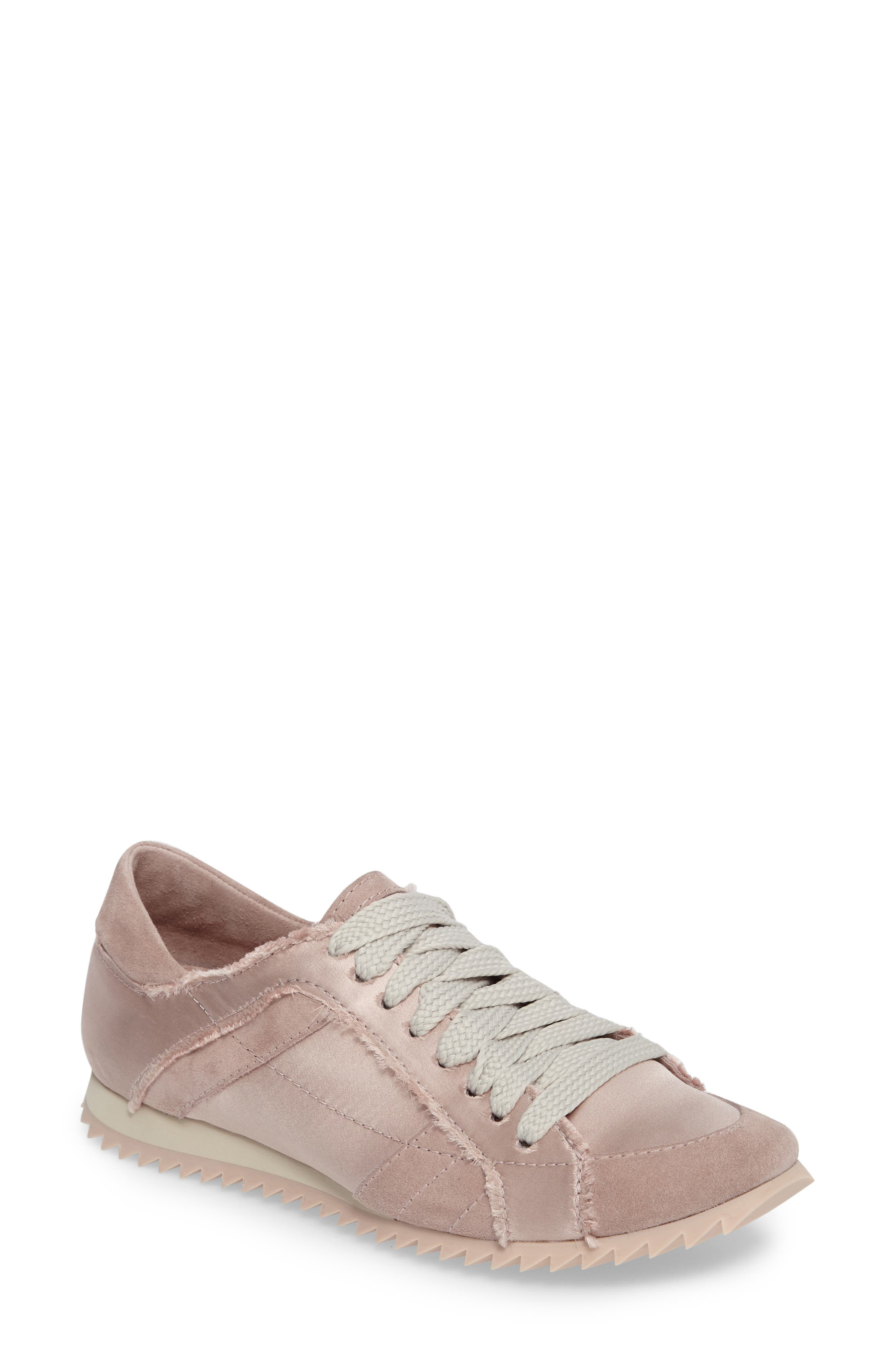 Cristina Trainer Sneaker,                         Main,                         color, Light Pink Satin