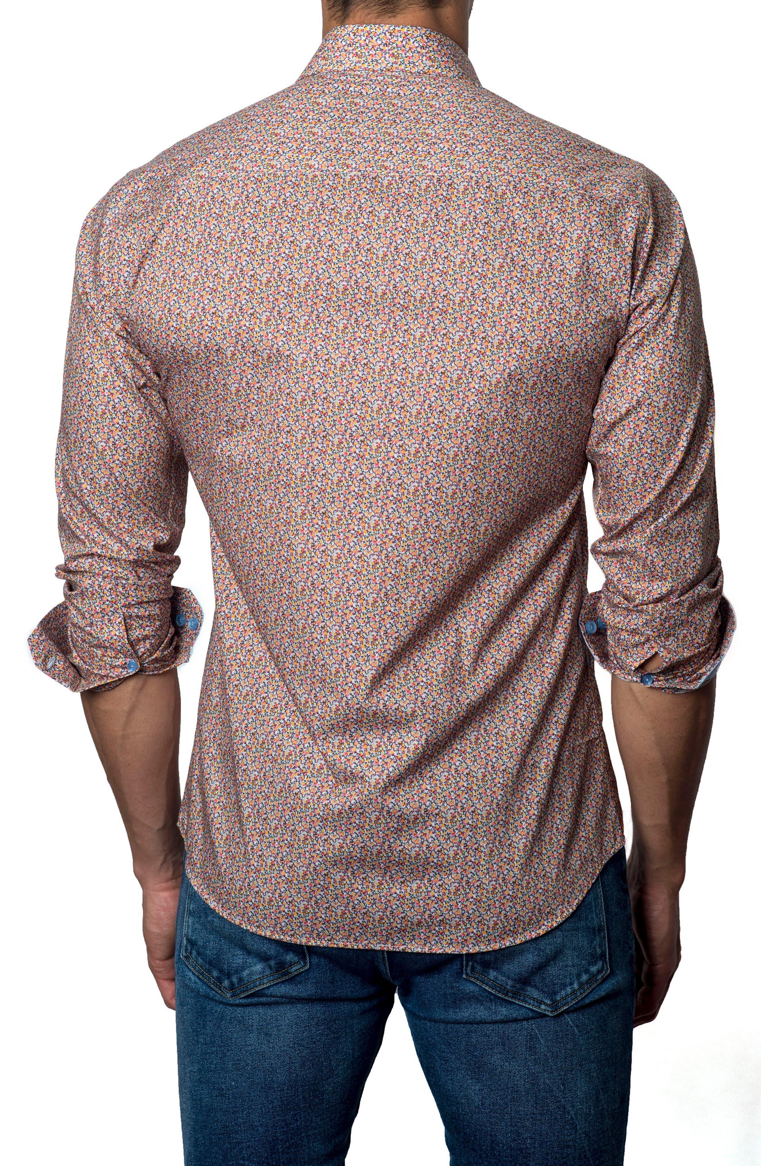 Alternate Image 2  - Jared Lang Floral Sport Shirt