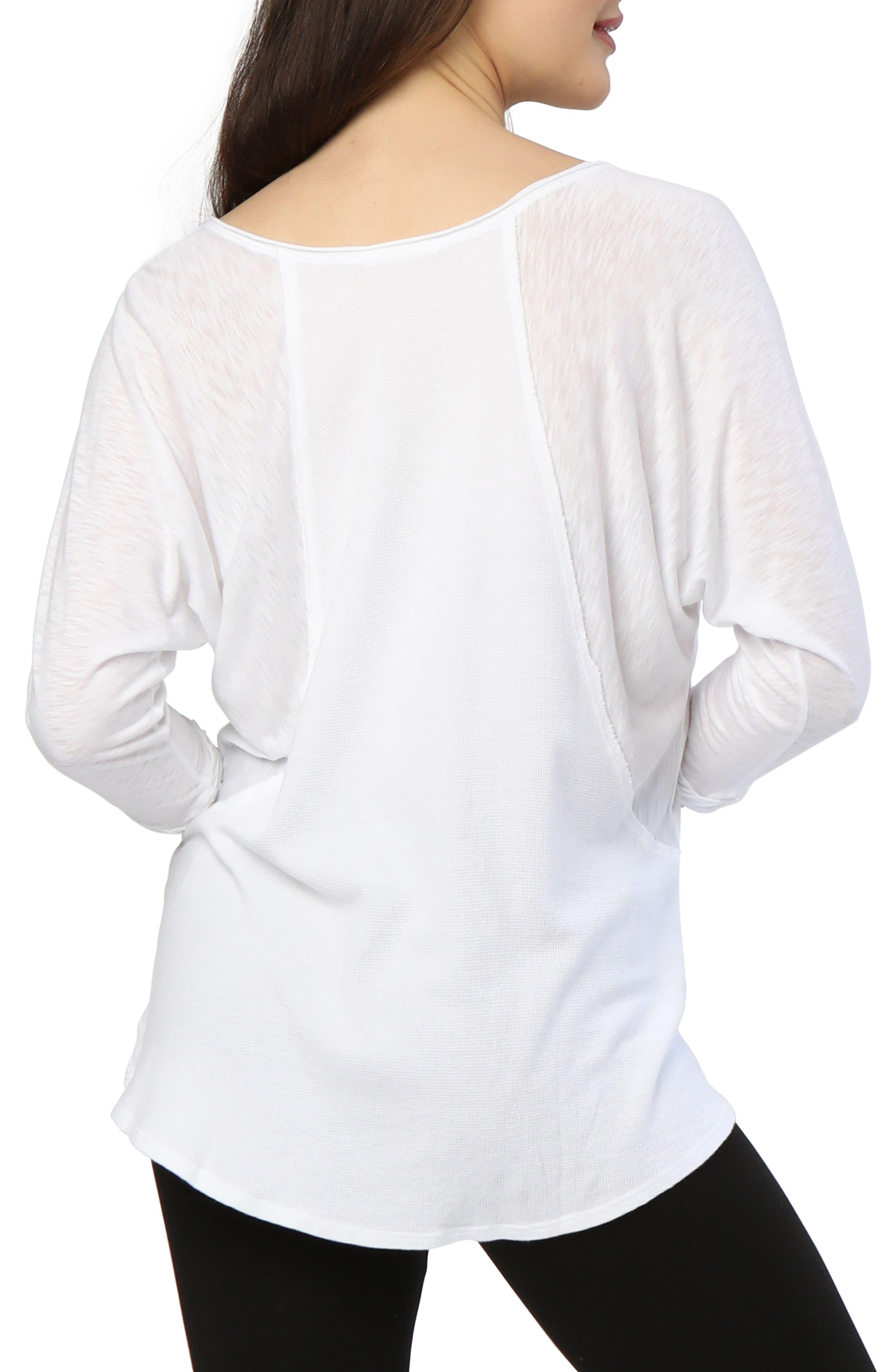 Kris Long-Sleeve Top,                             Alternate thumbnail 2, color,                             White